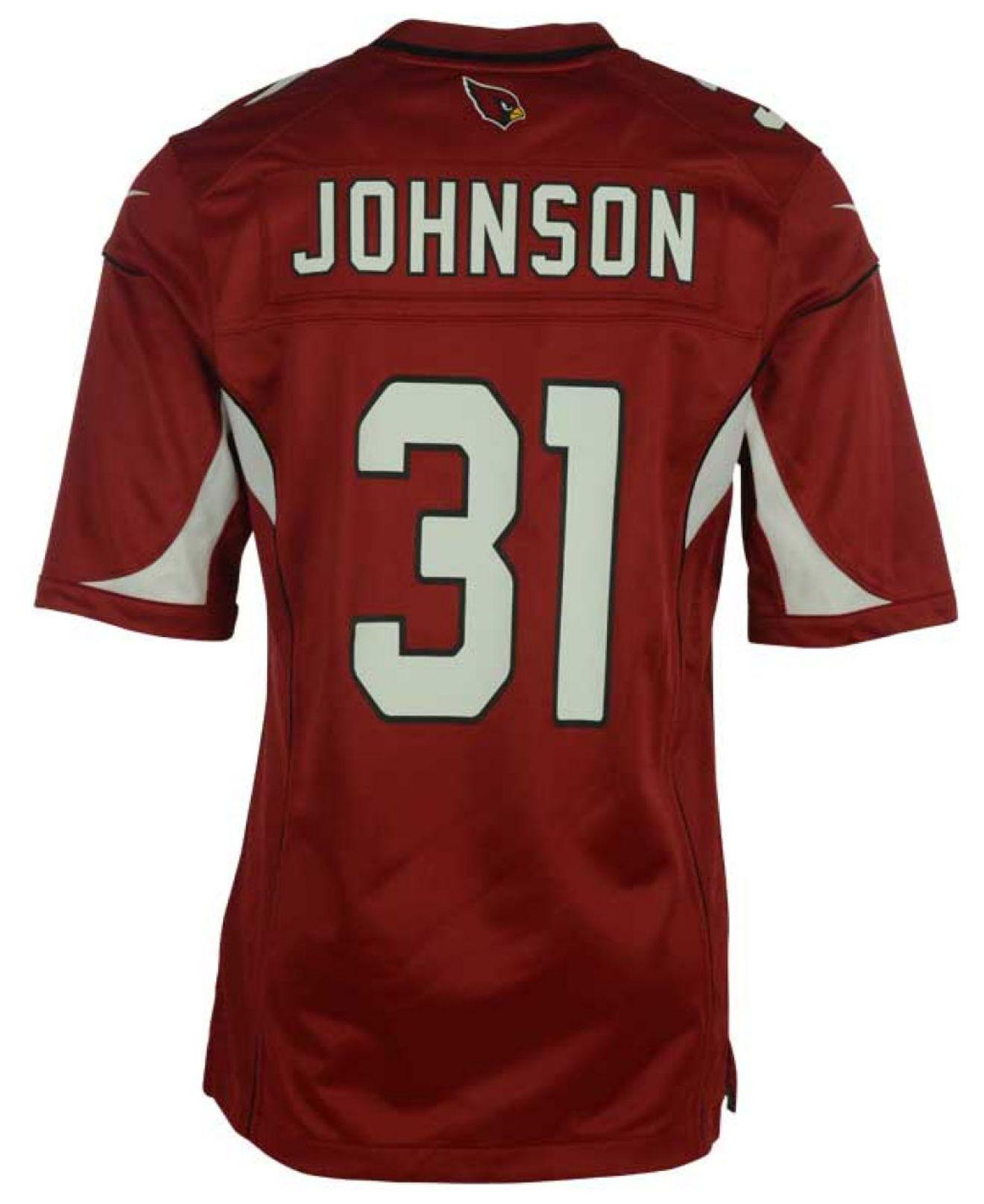 a81790543c0 Lyst - Nike Men s David Johnson Arizona Cardinals Game Jersey in Red ...