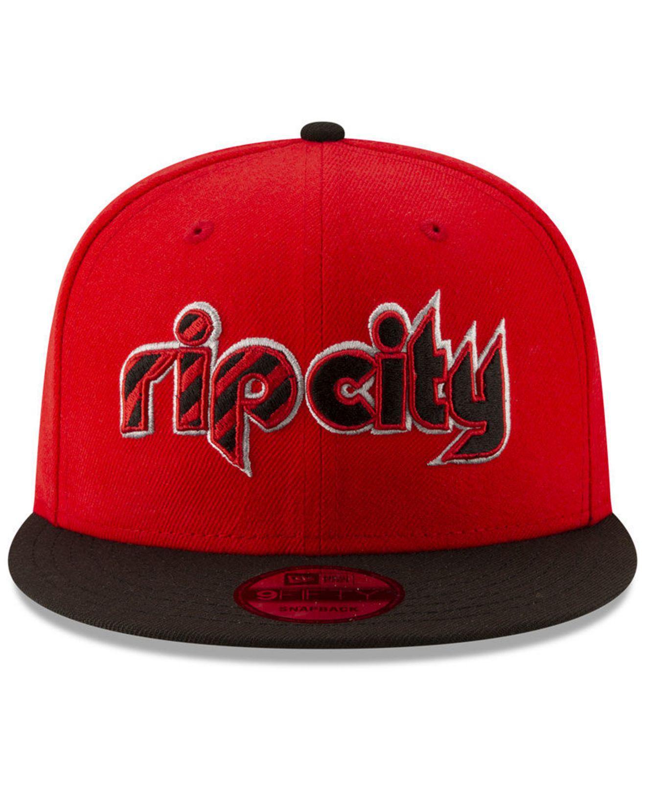 best sneakers cb968 9759d Lyst - KTZ Portland Trail Blazers Light City Combo 9fifty Snapback Cap in  Red for Men