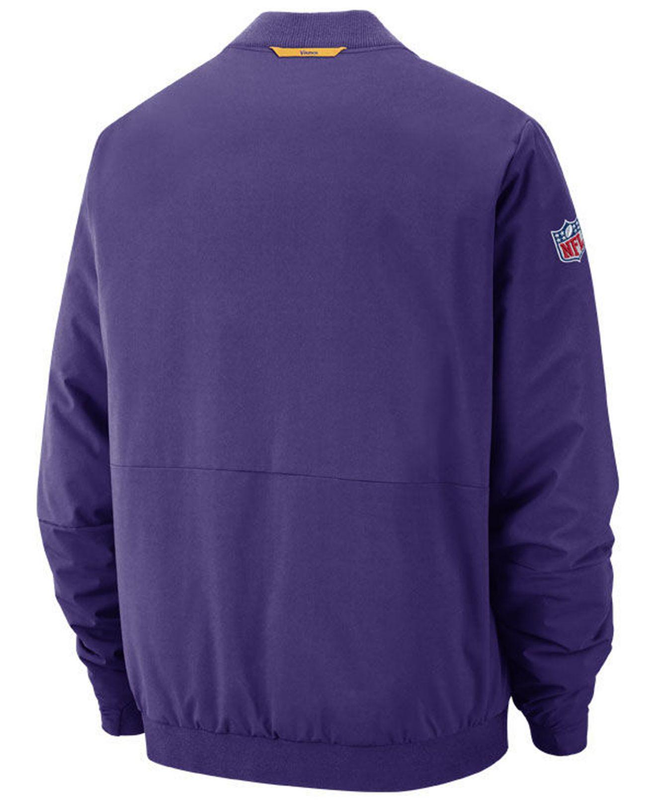 6a32c032 Nike Purple Minnesota Vikings Bomber Jacket for men