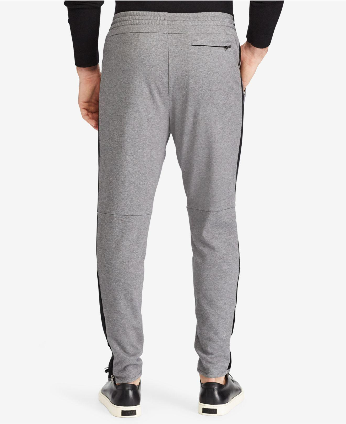 49447080359c Lyst - Polo Ralph Lauren Knit Cotton Track Pants in Gray for Men