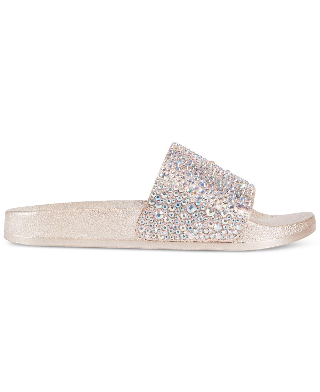 ce47caec8be5d5 Lyst - INC International Concepts Women s Peymin Flat Slide Sandals
