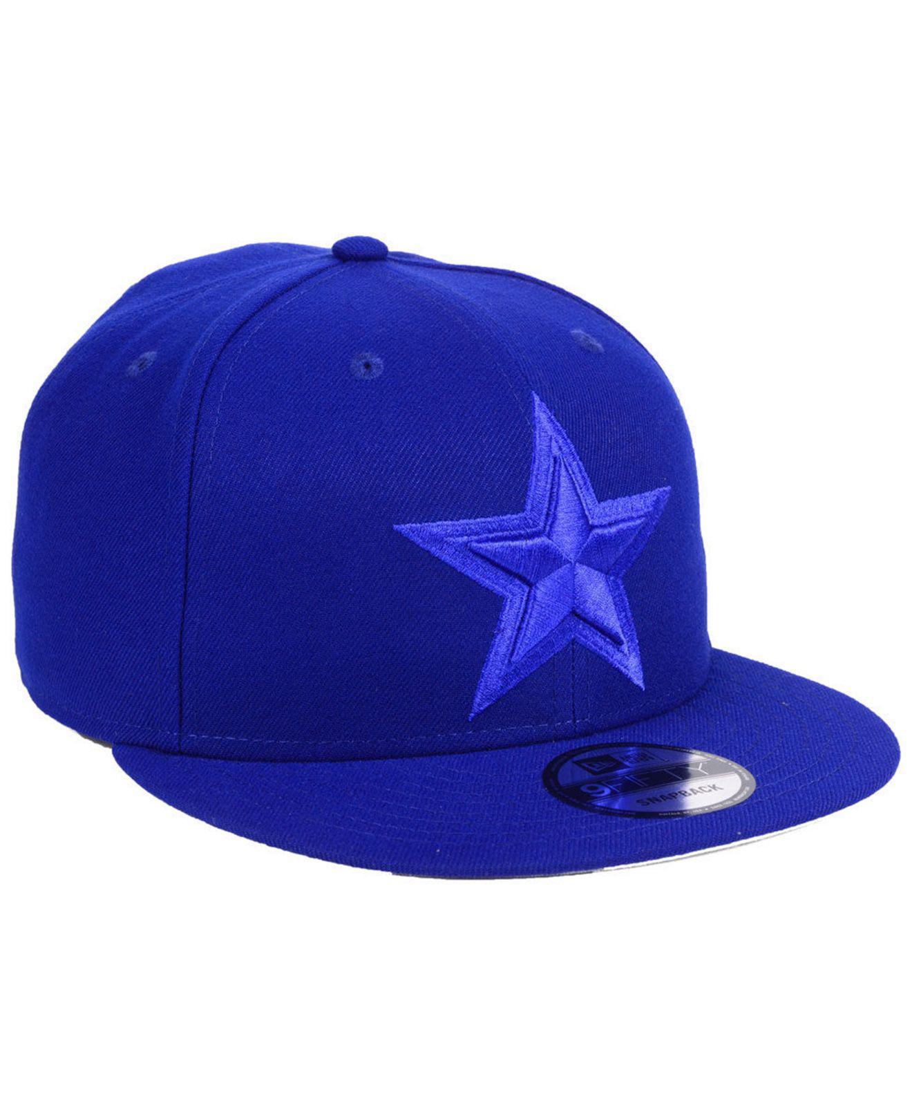 53cd65fc2ae Lyst - KTZ Dallas Cowboys Basic Fashion 9fifty Snapback Cap in Blue ...