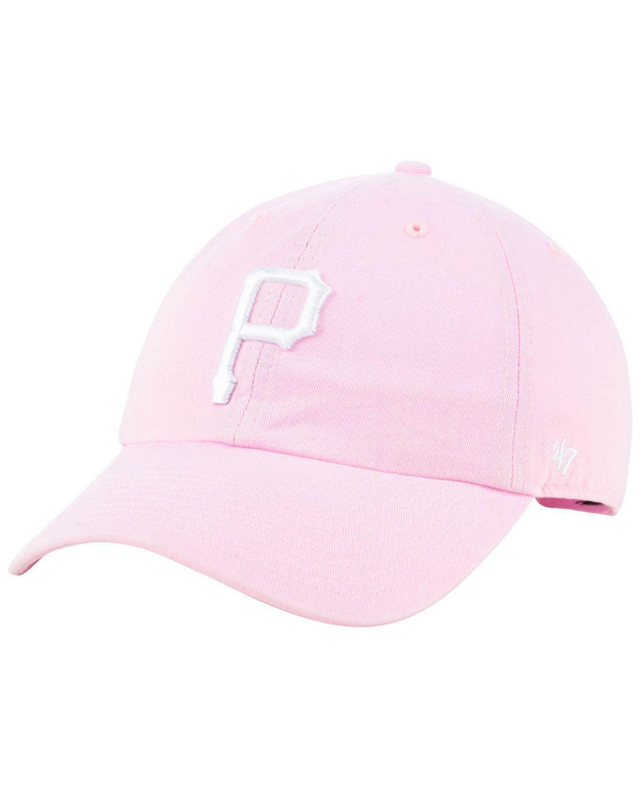 1ec5aa12a9c82a ... switzerland 47 brand. womens pittsburgh pirates pink clean up cap adeb8  b6db6