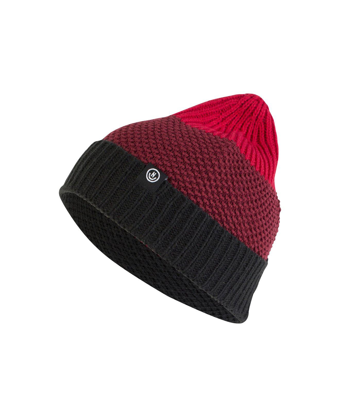 477a26791bd Lyst - Neff Men s Scrappy Colorblocked Textured-knit Beanie in Red ...