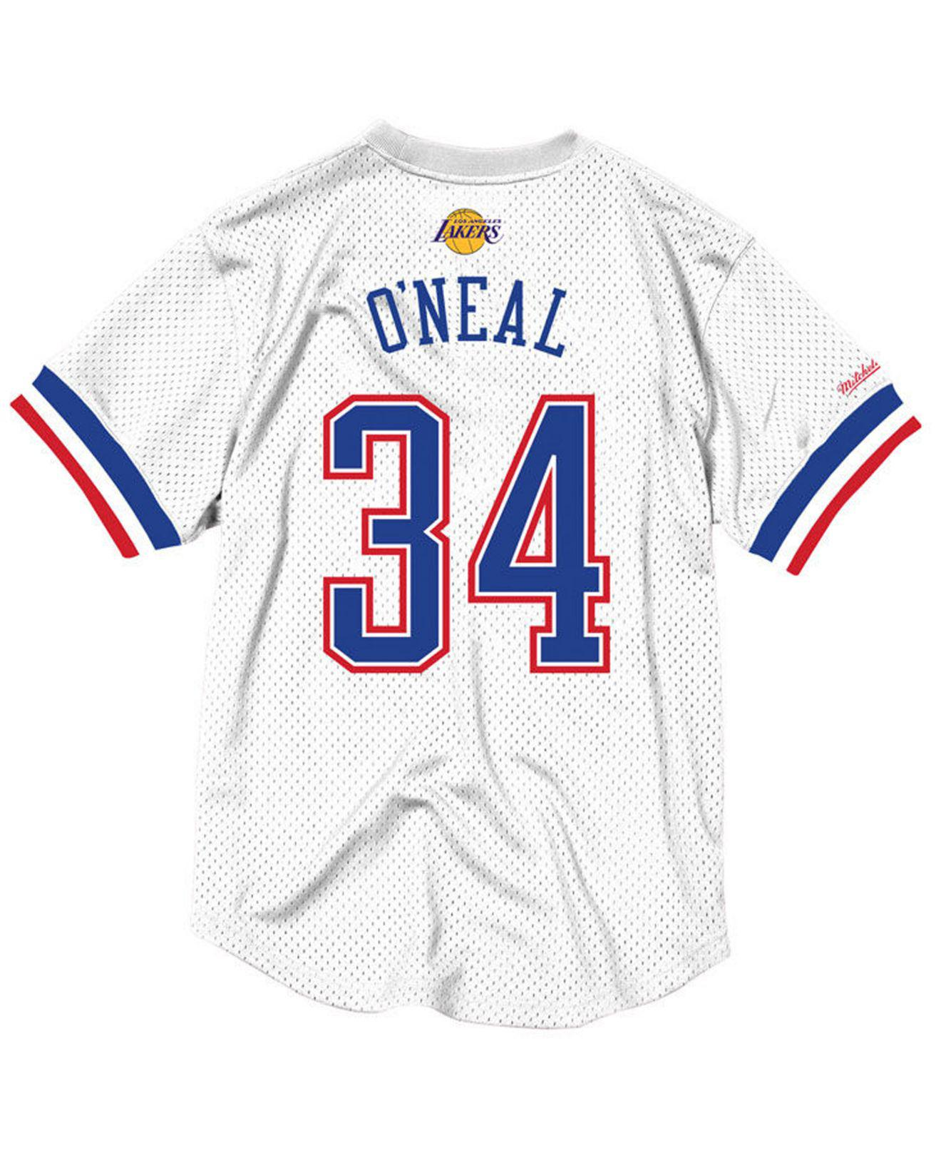 Mitchell   Ness. Men s White Shaquille O neal Nba All Star 1996 Mesh Crew  Neck Jersey d321906f7
