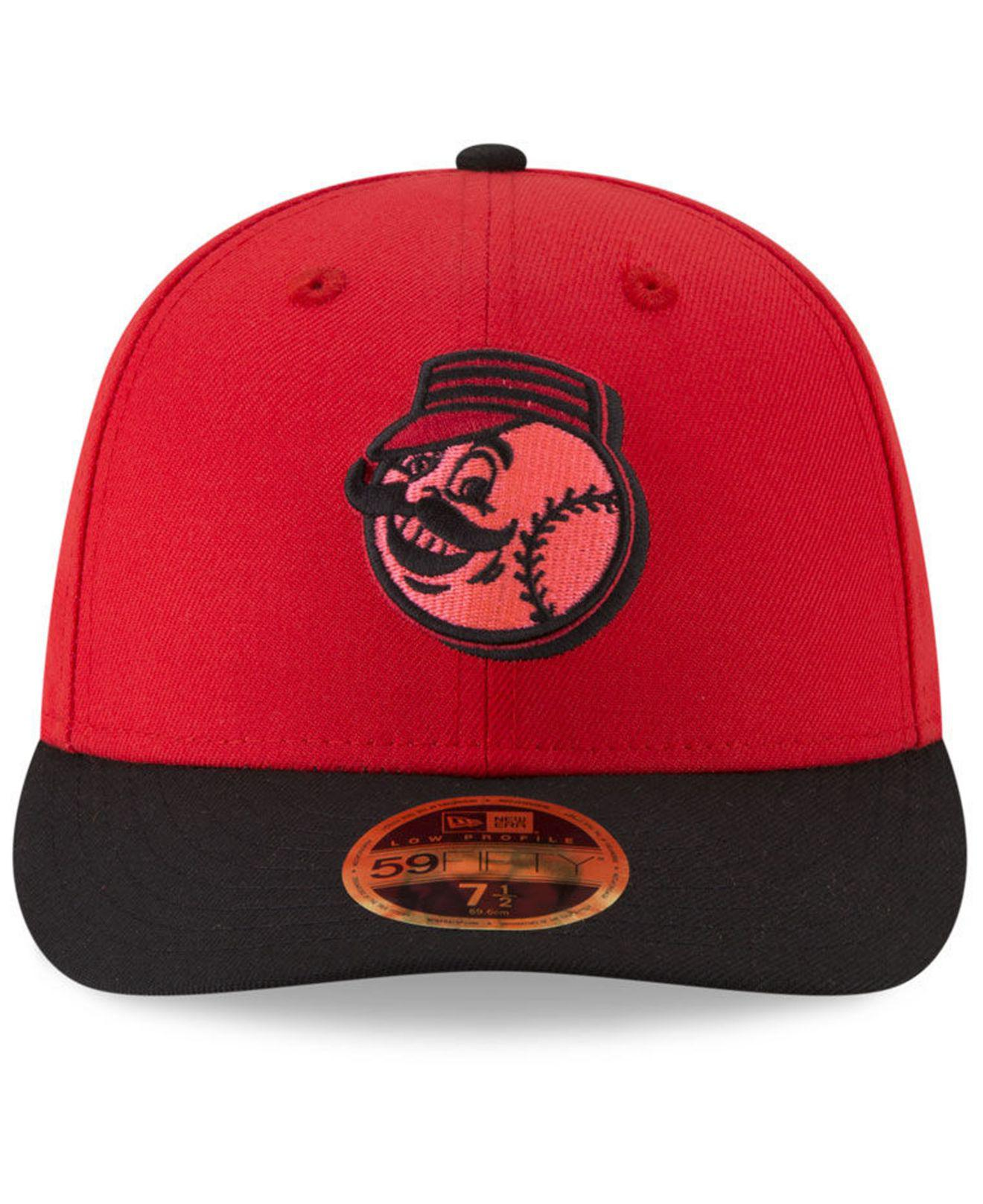 410154ed1603a5 reduced new era cincinnati reds stretch fit hat 2aef9 e9dbb; germany lyst  ktz cincinnati reds players weekend low profile 59fifty fitted cap in red  for men