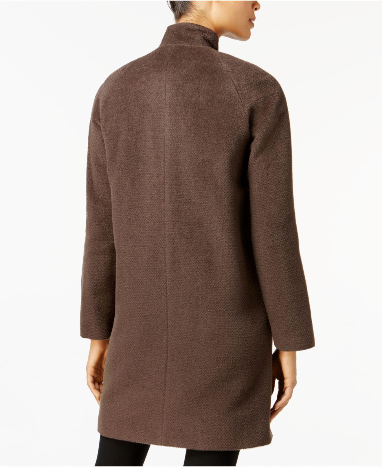 Jones New York Tiered Faux Fur Hooded Coat   Nordstrom