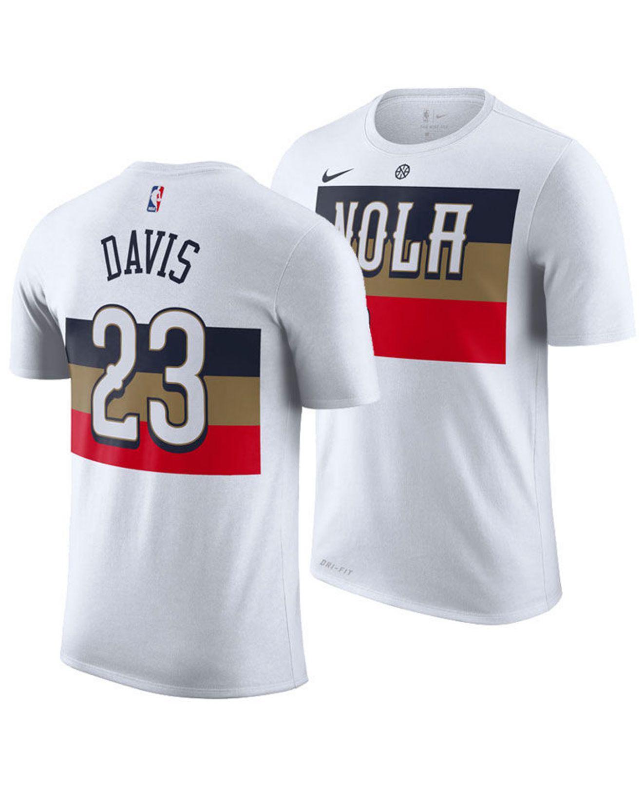 Anthony Davis Nba New Orleans Pelicans City Edition Dri Fit Nba T Shirt
