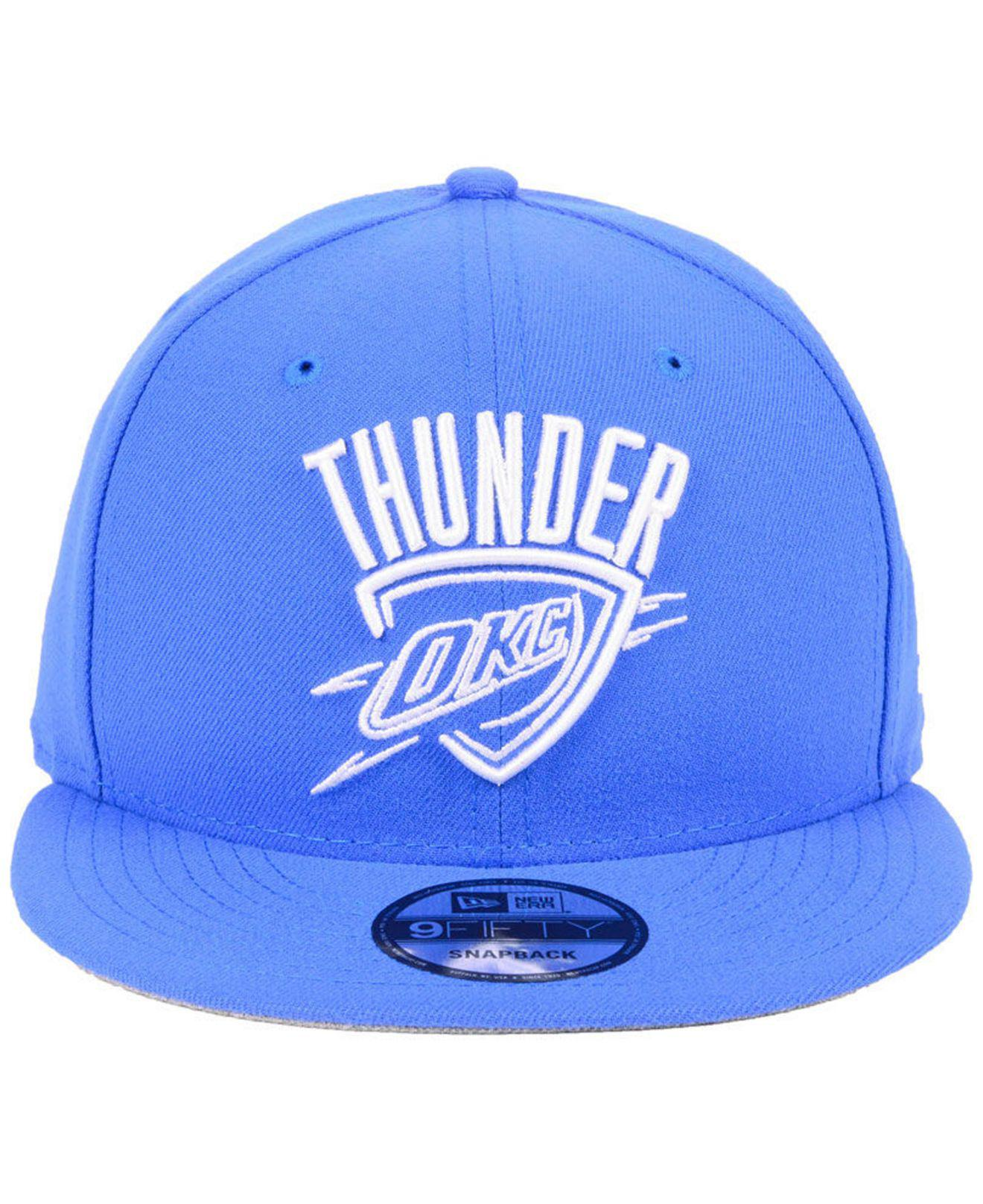 buy online 8f4d7 eeed6 ... netherlands lyst ktz oklahoma city thunder logo trace 9fifty snapback  cap in blue for men 6a17f