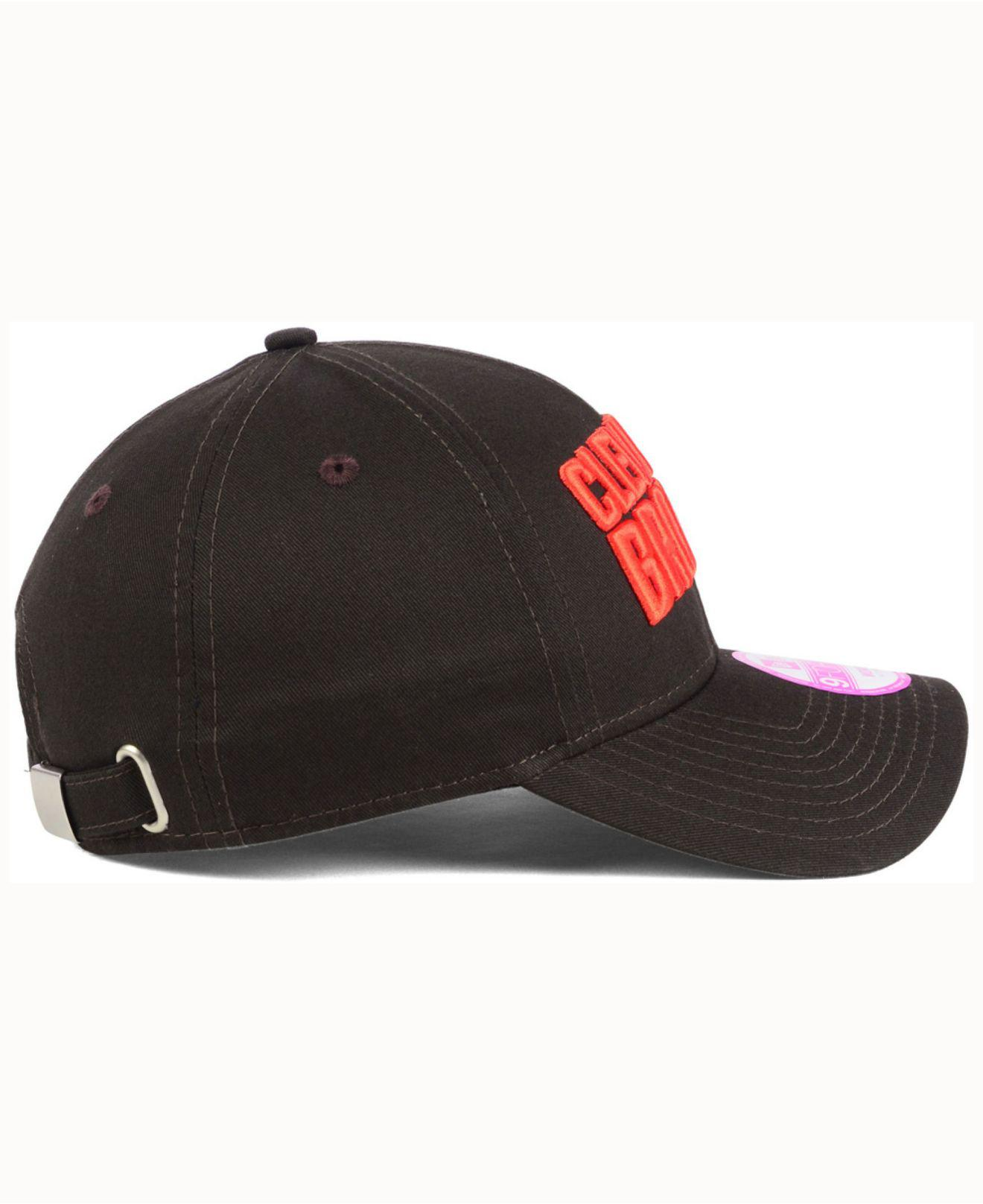 online store 52299 54ece ... where can i buy lyst ktz womens cleveland browns glitter glam 2.0  9forty cap in fef65