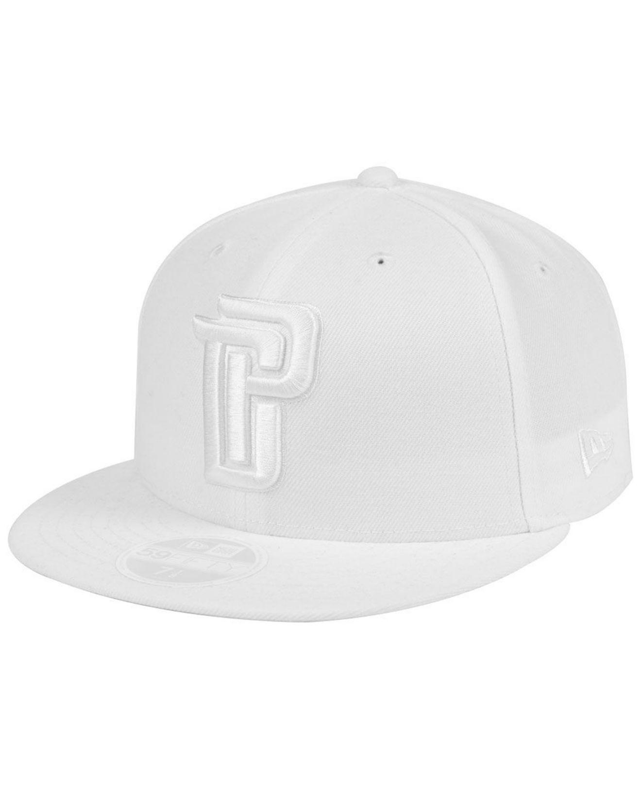 new styles 1d26f b20eb ... france ktz detroit pistons whiteout 59fifty fitted cap for men lyst.  view fullscreen 715a8 22c65