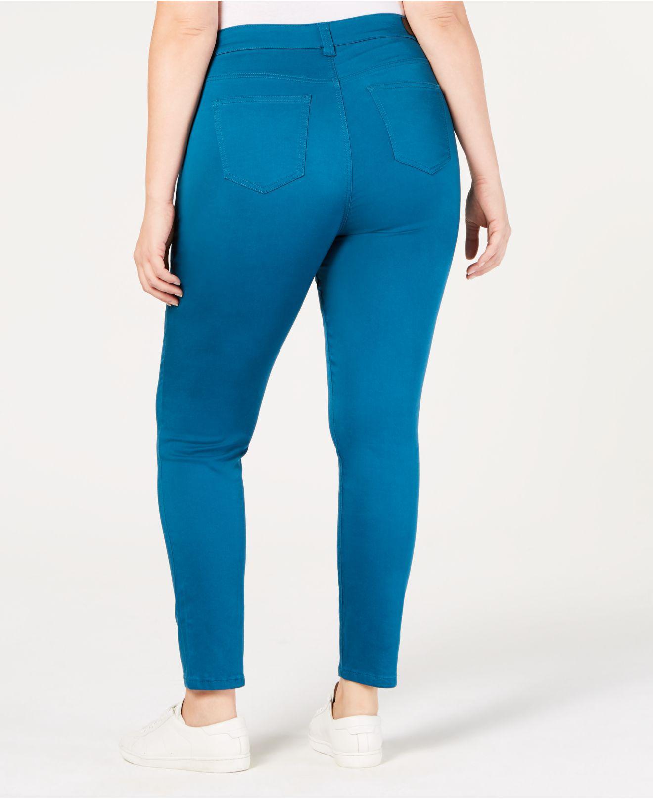 d3c8c98e73f40 Lyst - Celebrity Pink Trendy Plus Size Jayden Colored Skinny Jeans in Blue
