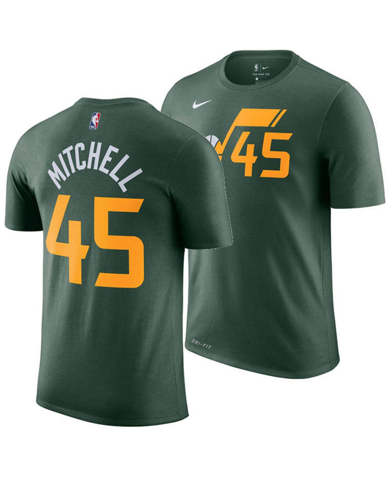 new products 6dcd9 c9e2b Men's Green Donovan Mitchell Utah Jazz Earned Edition Player T-shirt