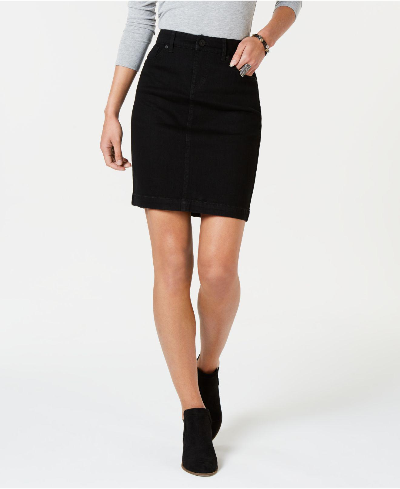 f4aaef9a14 Lyst - Style & Co. Petite Denim Skirt, Created For Macy's in Black