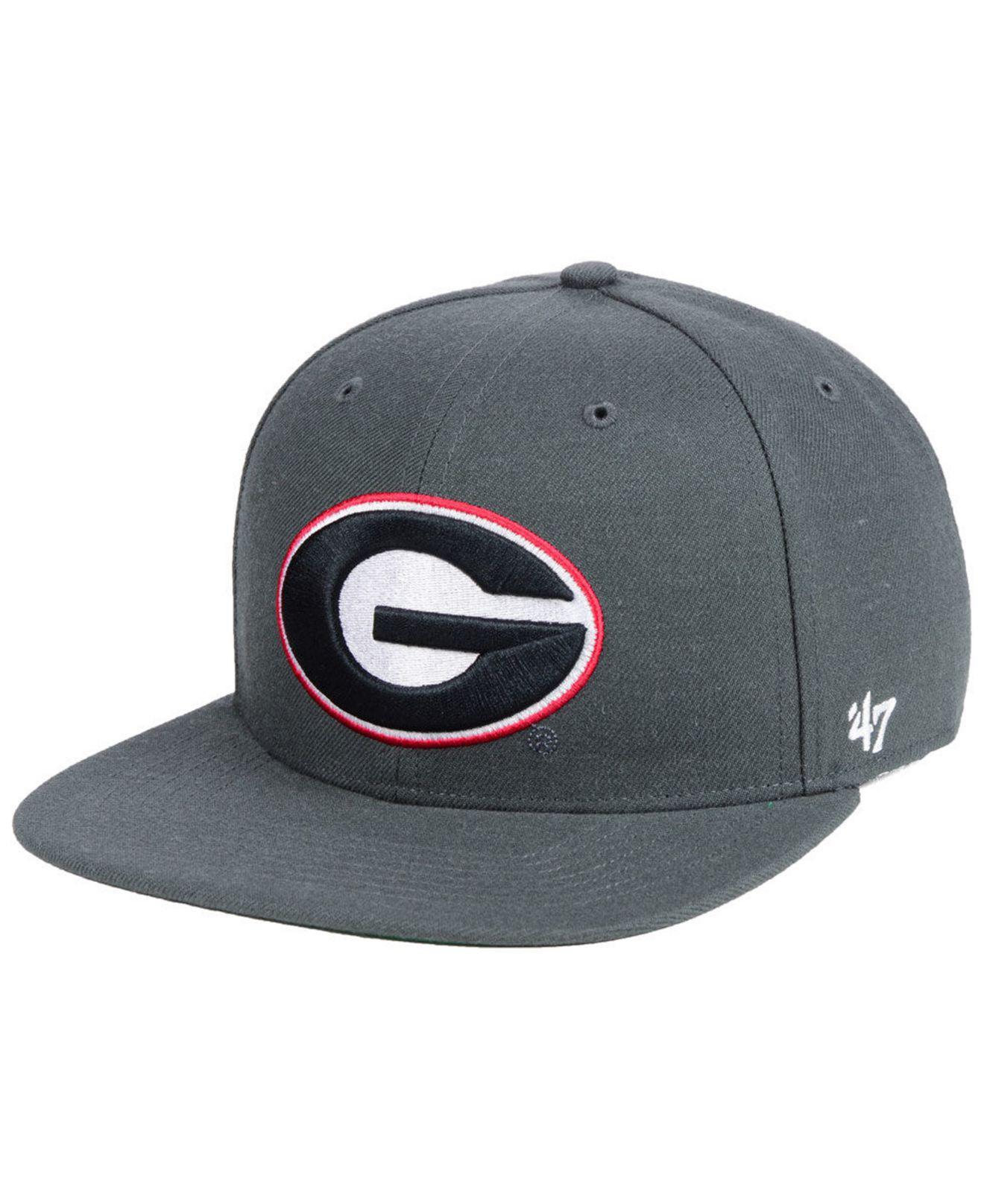 58469d1fff0 Lyst - 47 Brand Georgia Bulldogs Core Fitted Cap in Gray for Men