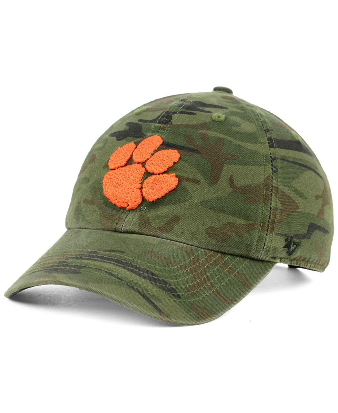 new styles ff223 9d7c2 47 Brand. Green Clemson Tigers Regiment Clean Up Strapback Cap