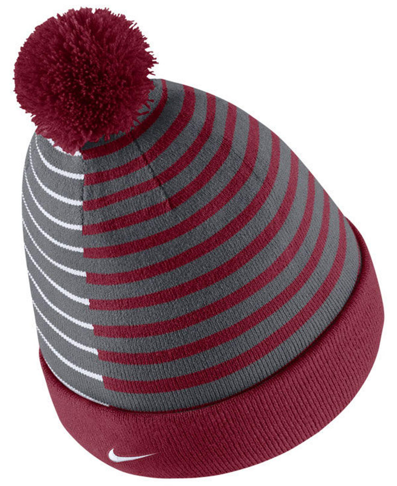 73e34f30c ... order lyst nike washington state cougars striped beanie knit hat in red  for men df770 5282e