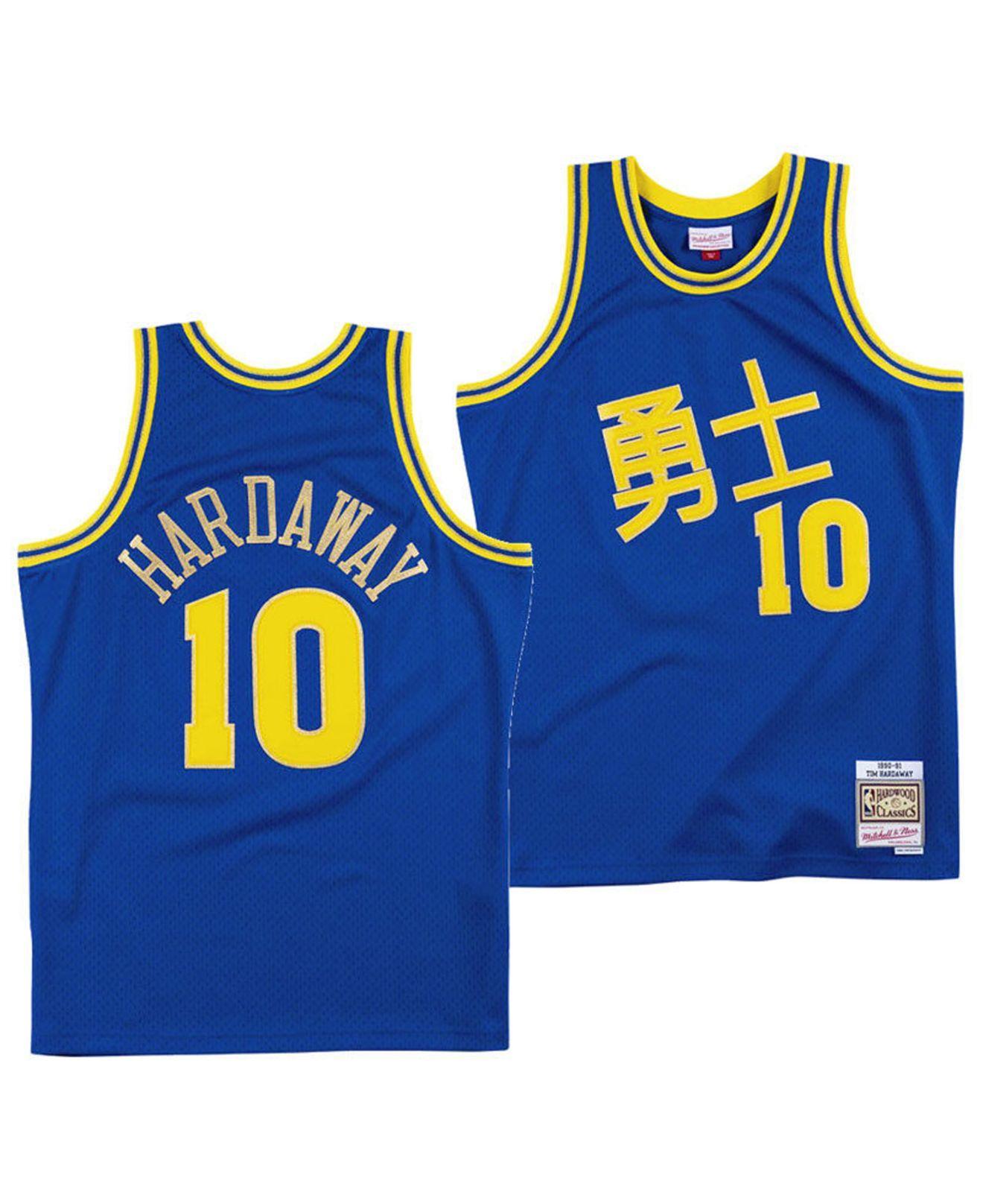 best service ee818 38db2 Men's Blue Tim Hardaway Golden State Warriors Chinese New Year Swingman  Jersey