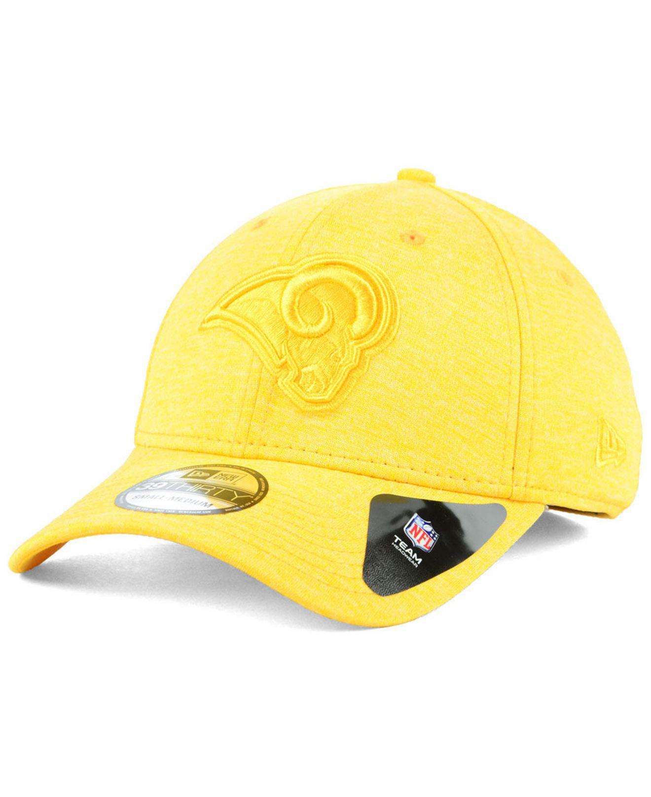 new arrival e2a95 ae5d1 KTZ. Men s Yellow Los Angeles Rams Tonal Heat 39thirty Cap