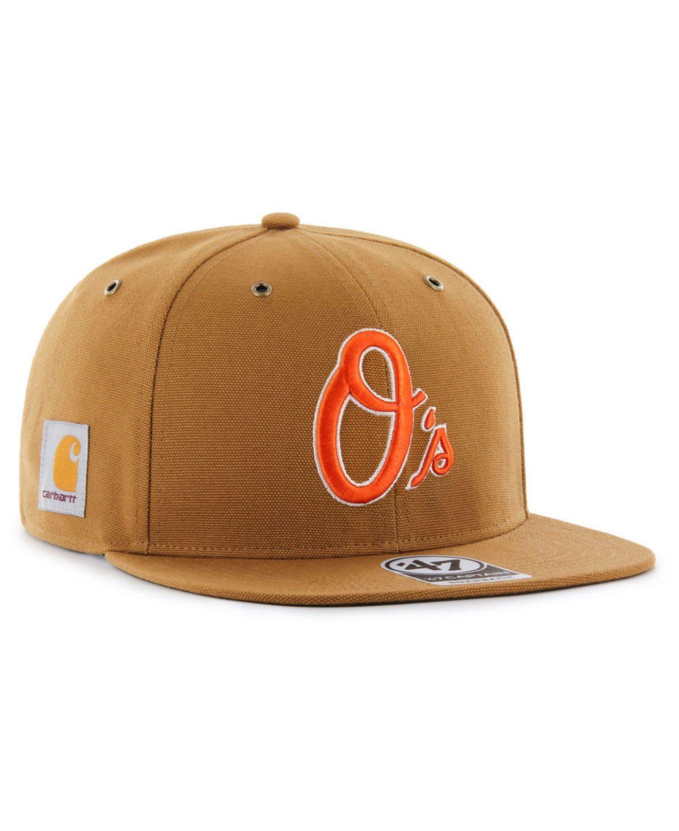 detailed look 62415 6bc97 Lyst - 47 Brand Baltimore Orioles Carhartt Captain Cap in Brown for Men
