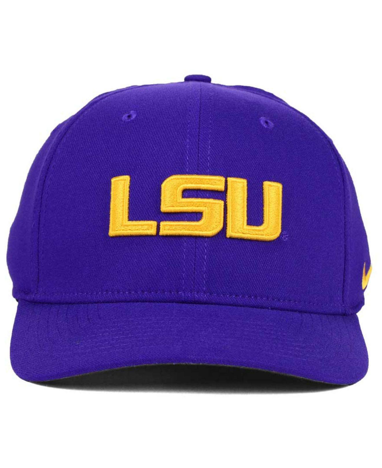 outlet store b5b7a 19ce8 ... cheap lyst nike lsu tigers classic swoosh cap in purple for men 75c3f  acc55