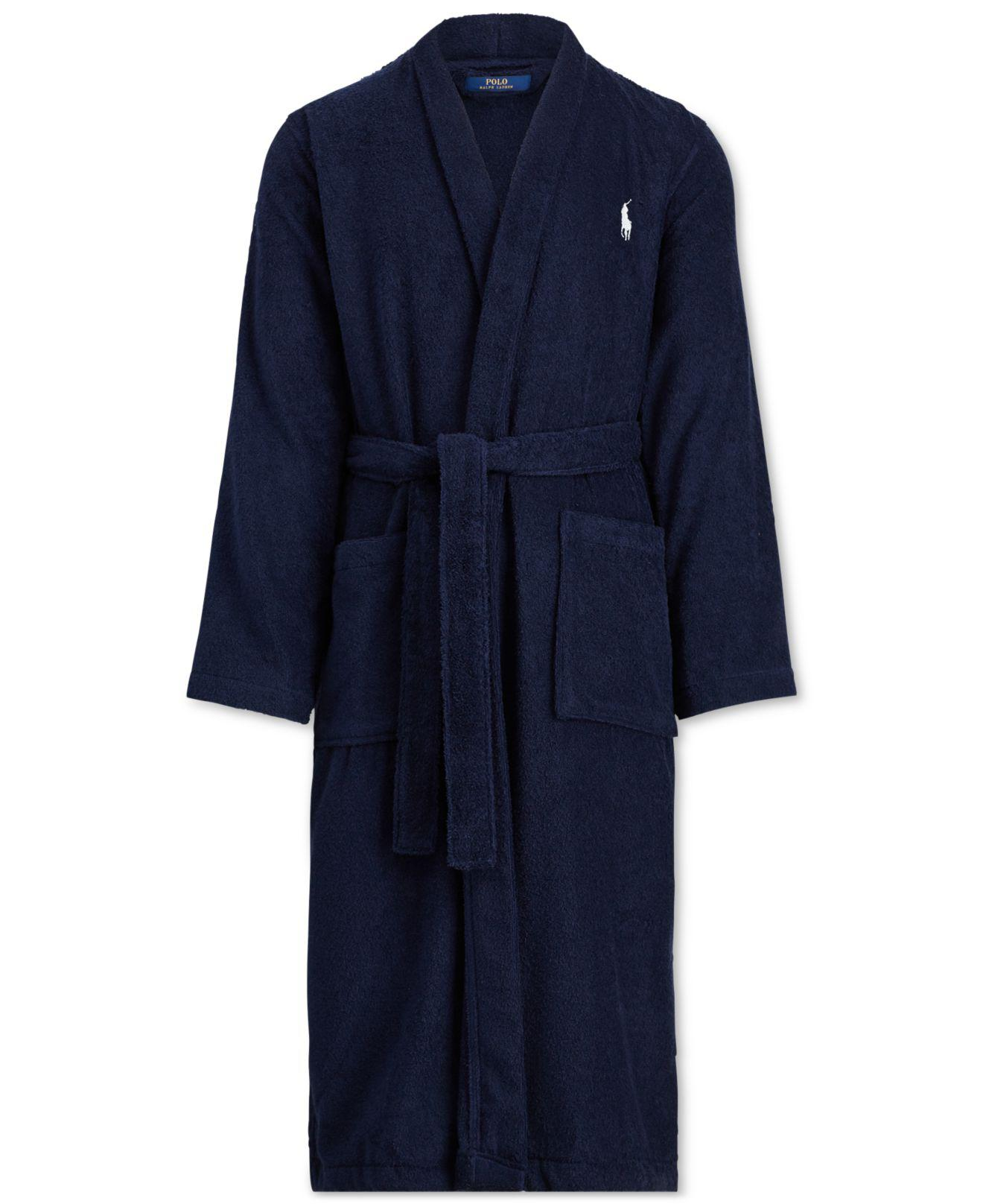 Big & Tall Shawl Cotton Robe