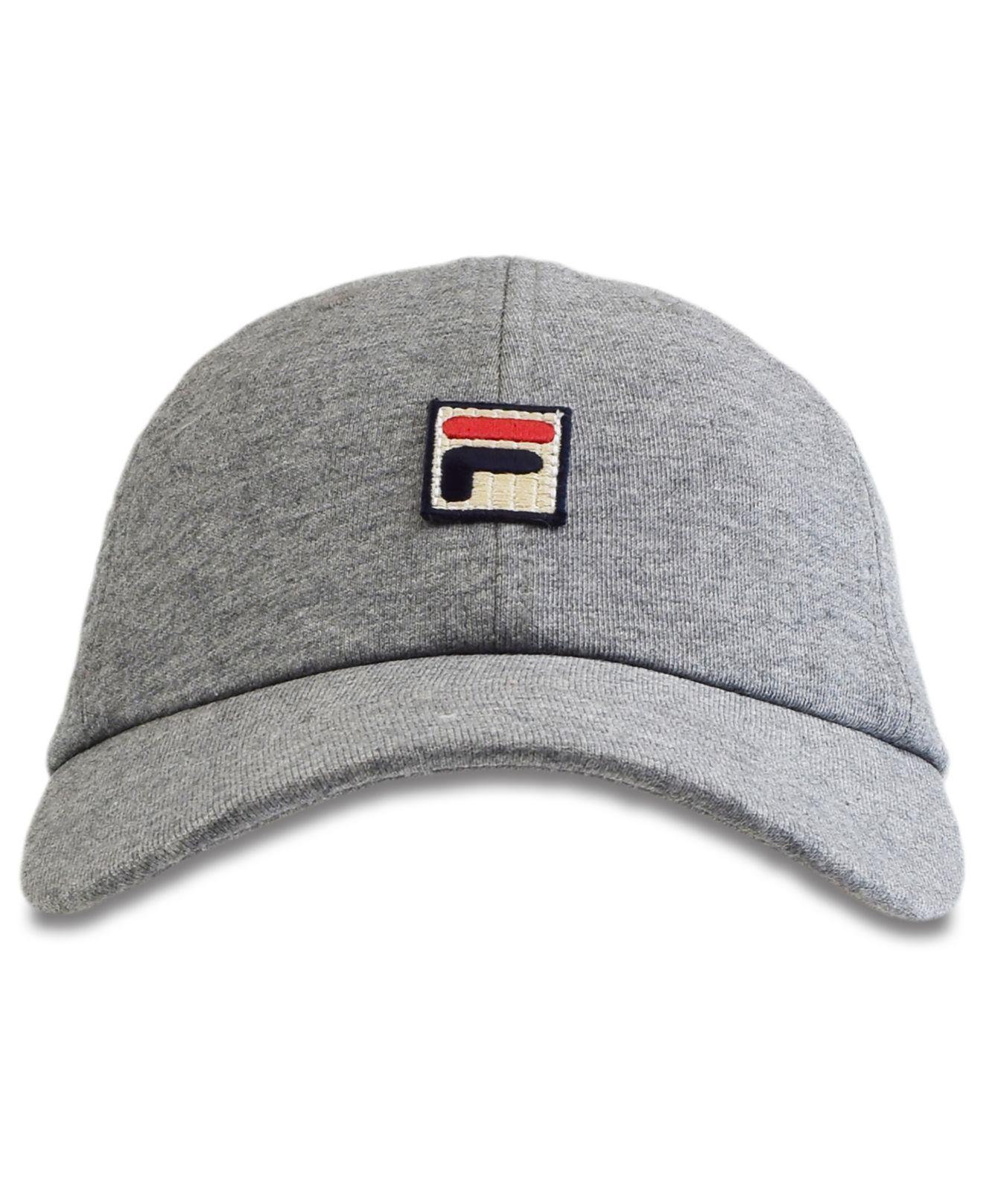 9630de96861 Lyst - Fila Cotton Baseball Cap in Gray - Save 28.0%