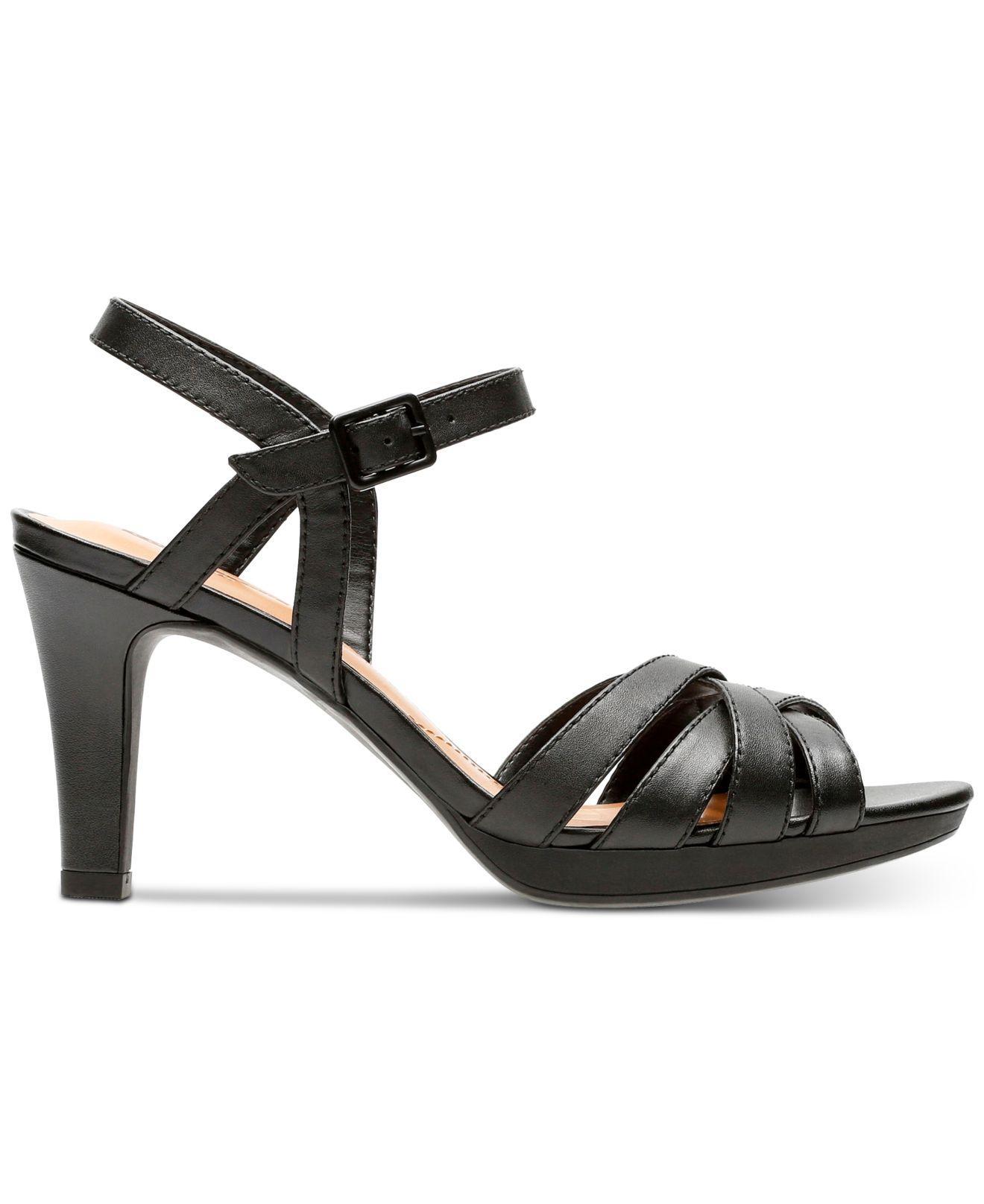 cf6017db9e1f Lyst - Clarks Adriel Wavy Heeled Sandals in Black