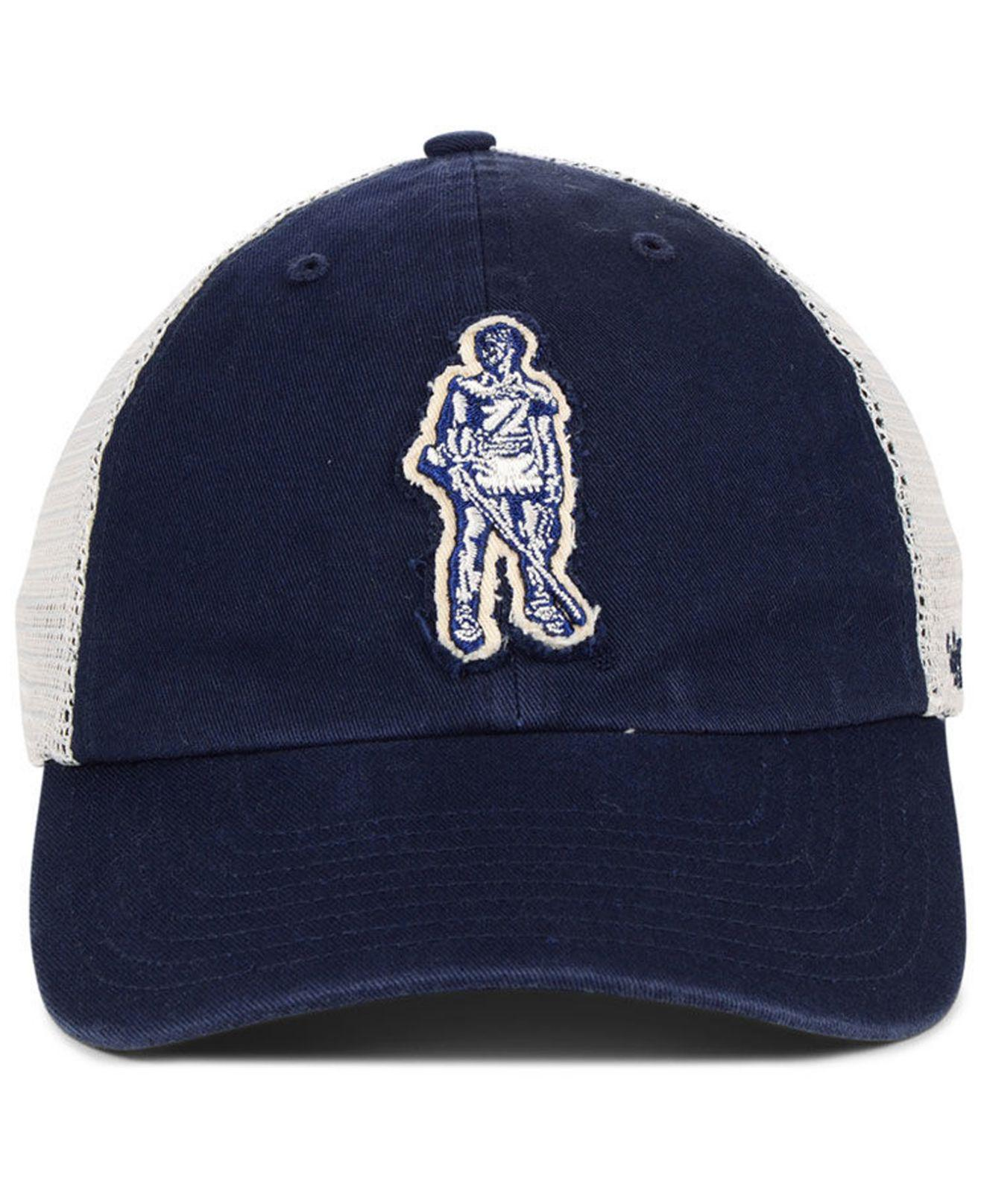 d0b920d06c65b Lyst - 47 Brand West Virginia Mountaineers Stamper Closer Stretch Fitted Cap  in Blue for Men