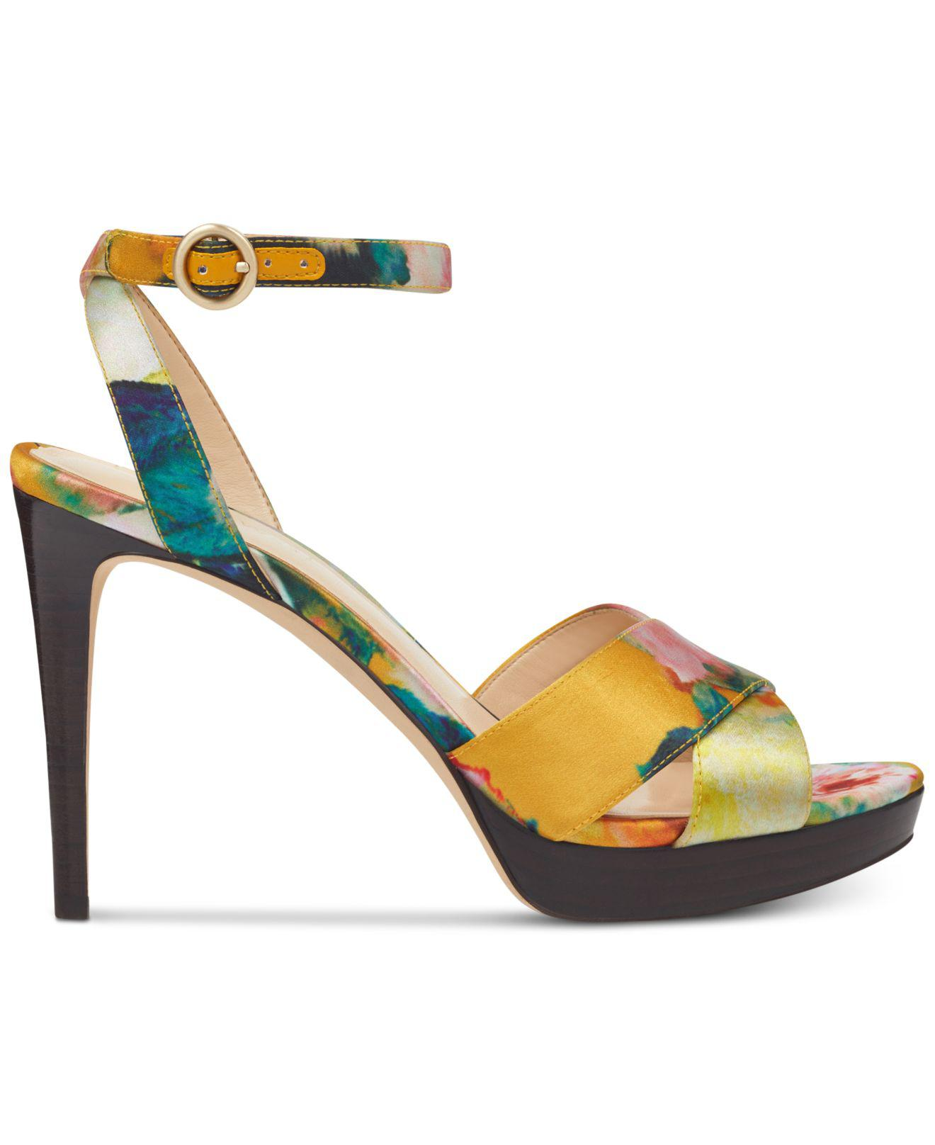 46b020fe7072 Lyst - Nine West Quisha Platform Sandals in Yellow