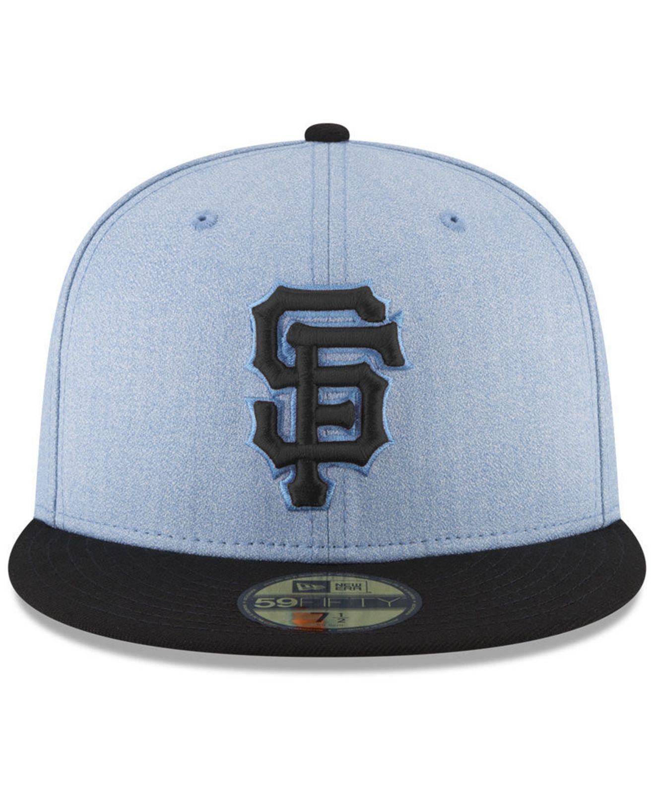 finest selection e9eaa 76699 ... ebay lyst ktz san francisco giants fathers day 59fifty fitted cap 2018  in blue for men