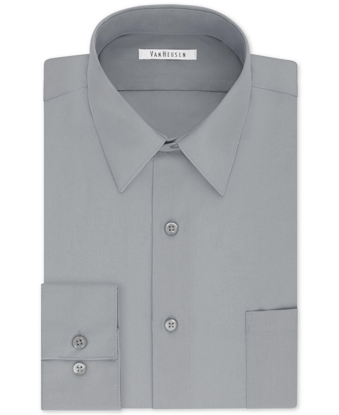 97fb1dbf1bb Van Heusen. Men s Tall Classic regular Fit Wrinkle Free Poplin Solid Dress  Shirt