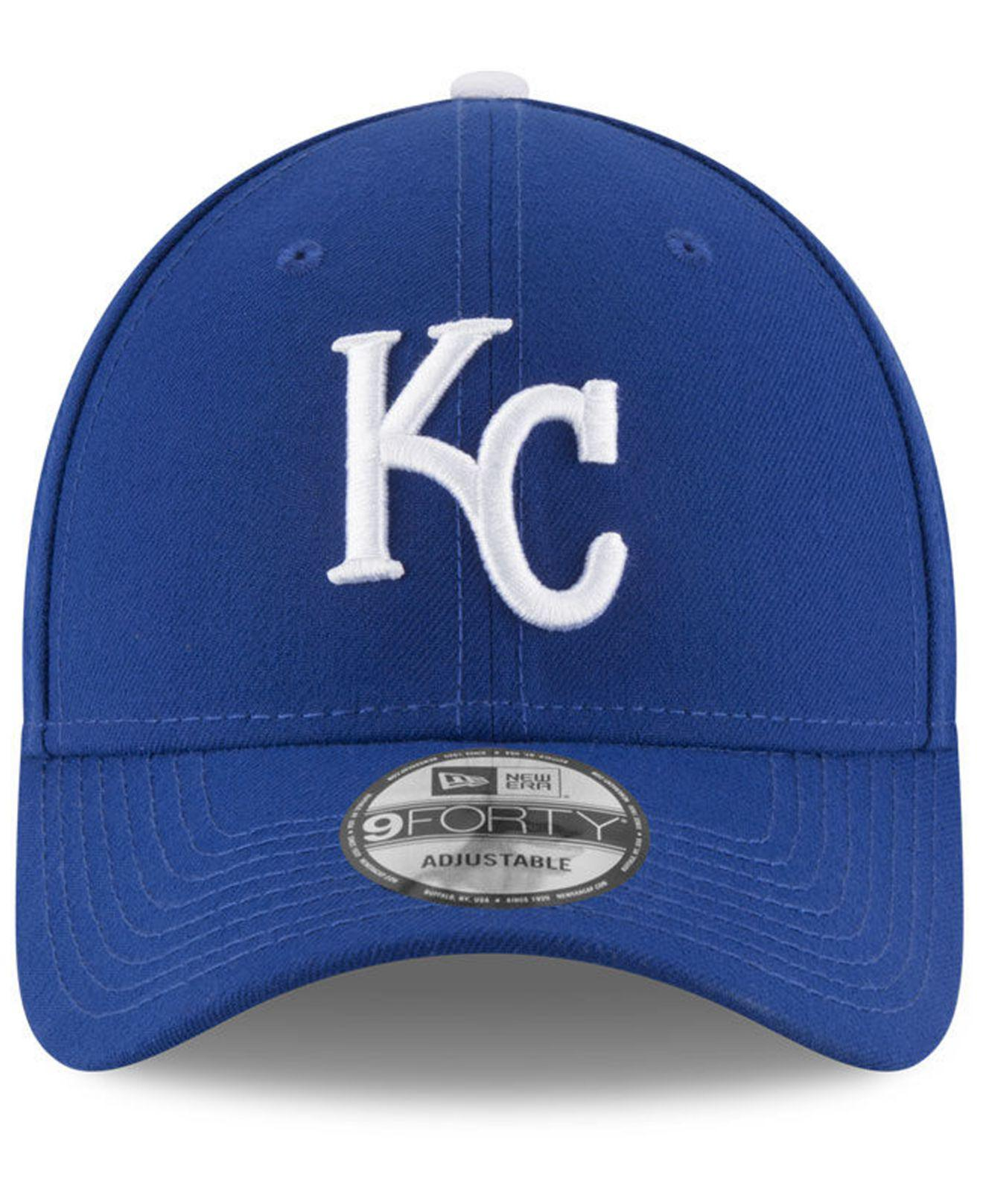the latest 3a90e 6c3a3 ... discount code for lyst ktz kansas city royals 9 11 memorial 9forty cap  in blue for