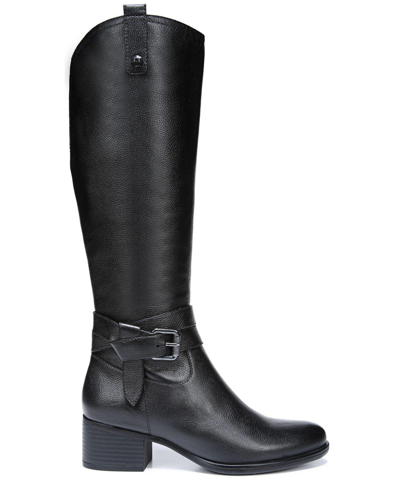 82c28c72e080 Lyst - Naturalizer Kim Wide Calf Riding Boots in Black