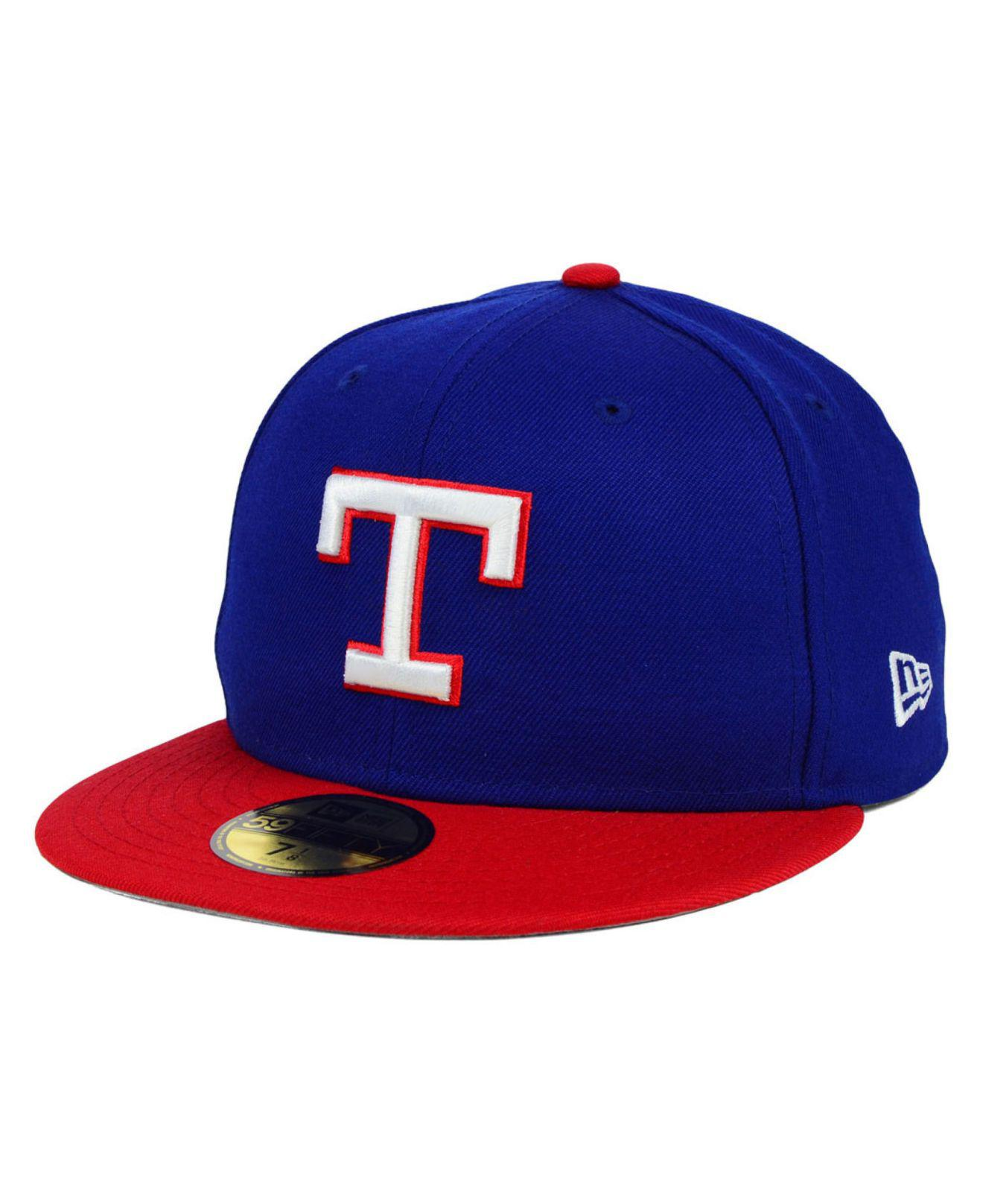 9f91437f0 Men's Red Texas Rangers Mlb Cooperstown 59fifty Cap