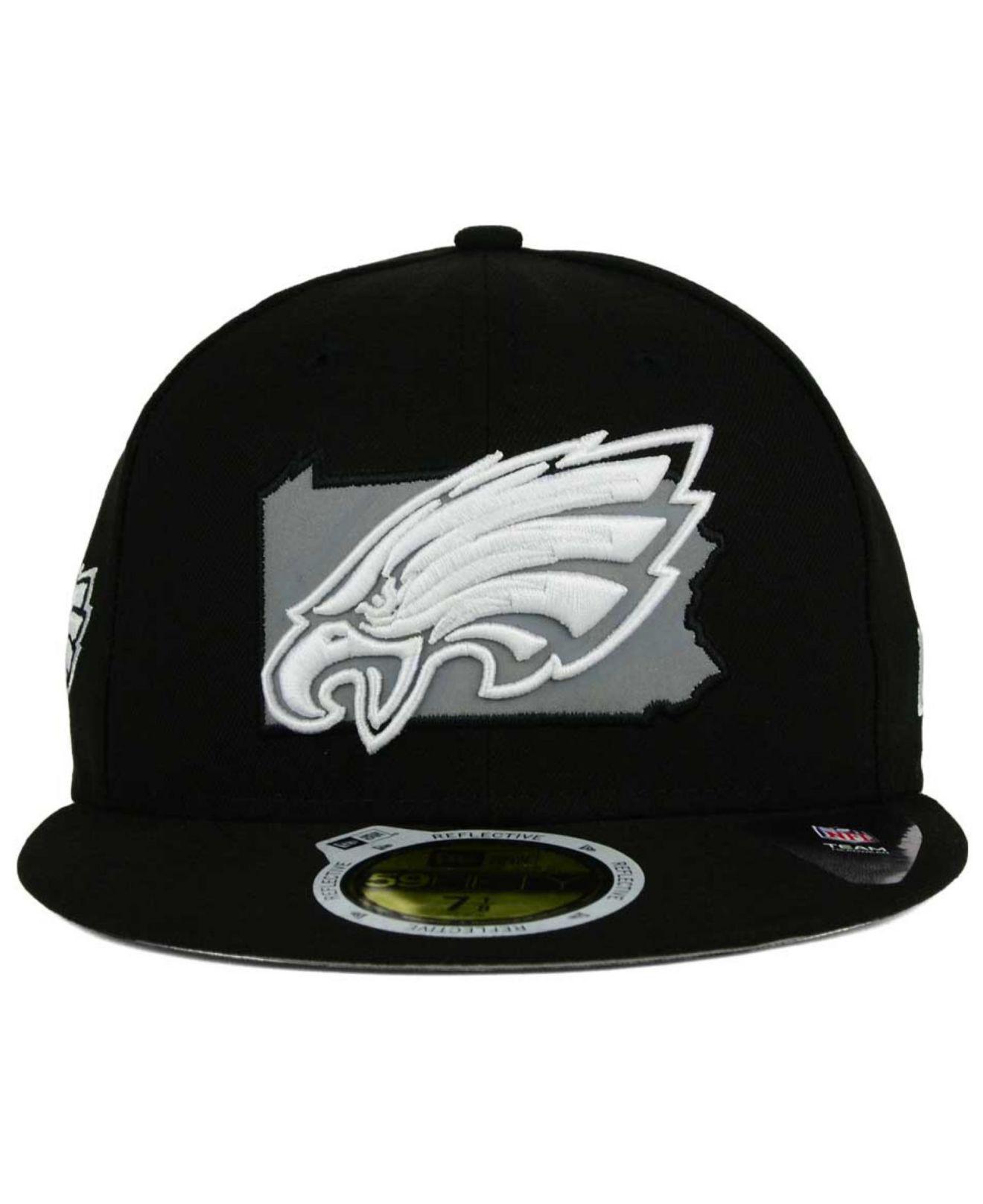 best sneakers b5b98 437b0 KTZ Philadelphia Eagles State Flective Redux 59fifty Cap in Black ...