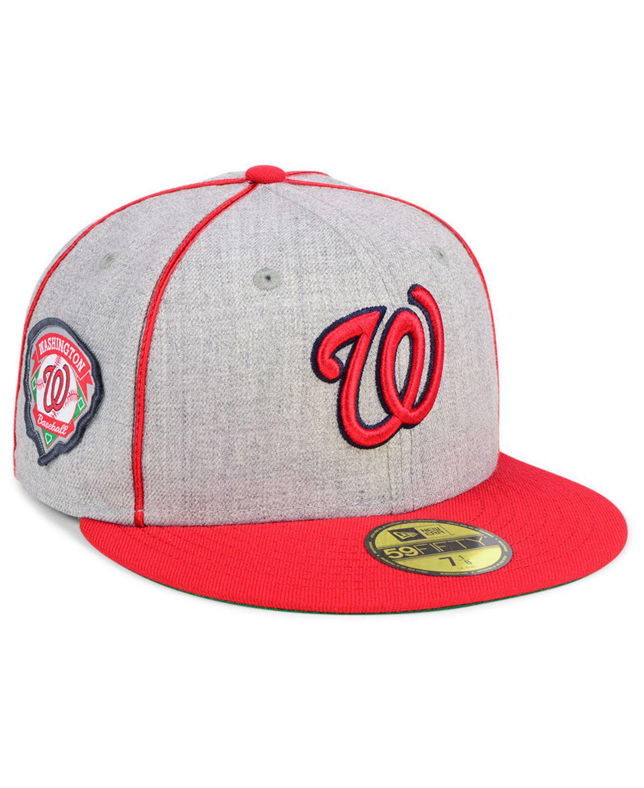 uk availability 3ab78 a99f2 KTZ. Men s Red Washington Nationals Stache 59fifty Fitted Cap
