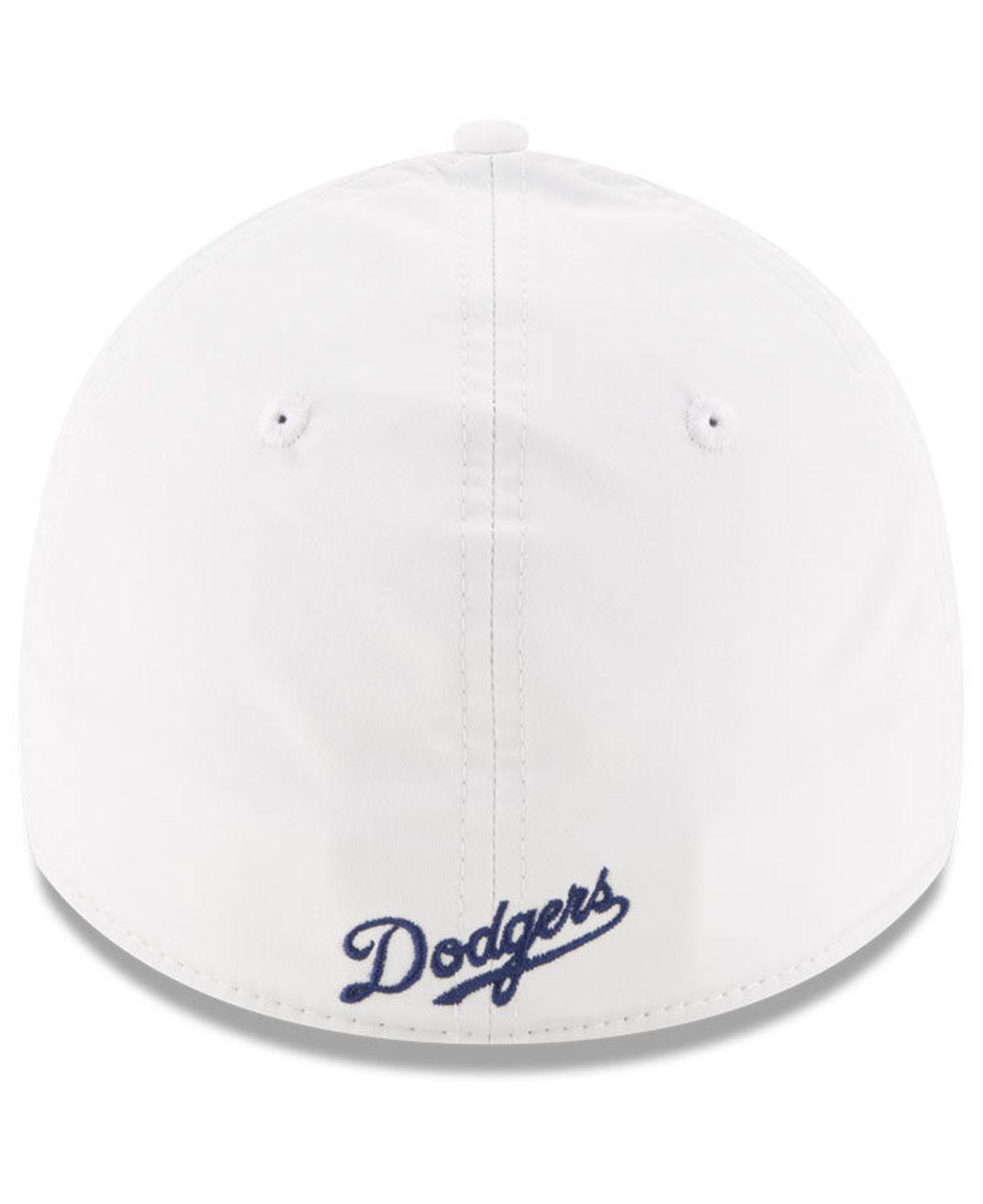 b0d1853c33b4cc ... hot ktz los angeles dodgers white batting practice 39thirty cap for men  lyst. view fullscreen