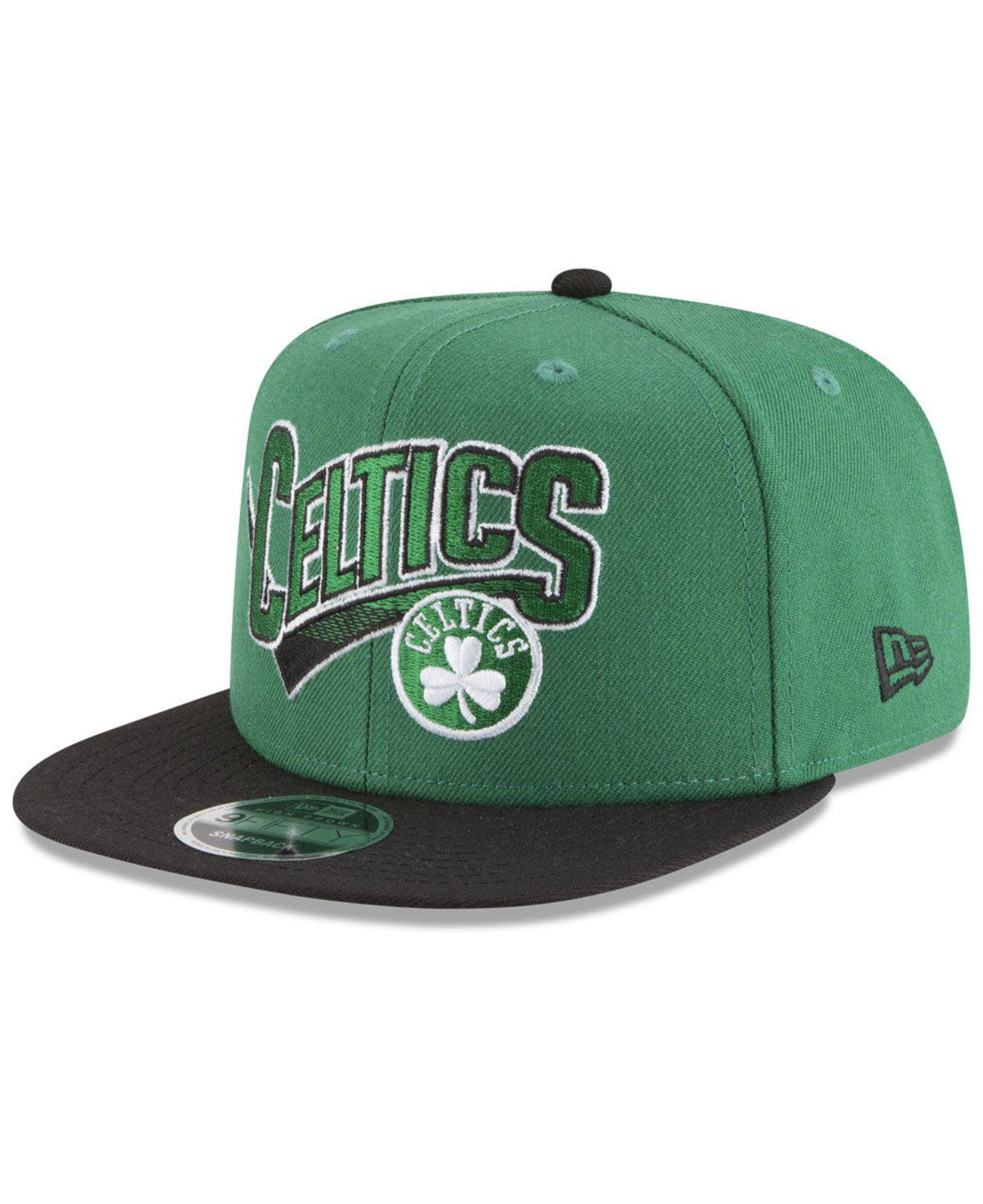 the best attitude 6d3b1 1bbd3 KTZ. Men s Green Boston Celtics Retro Tail 9fifty Snapback Cap