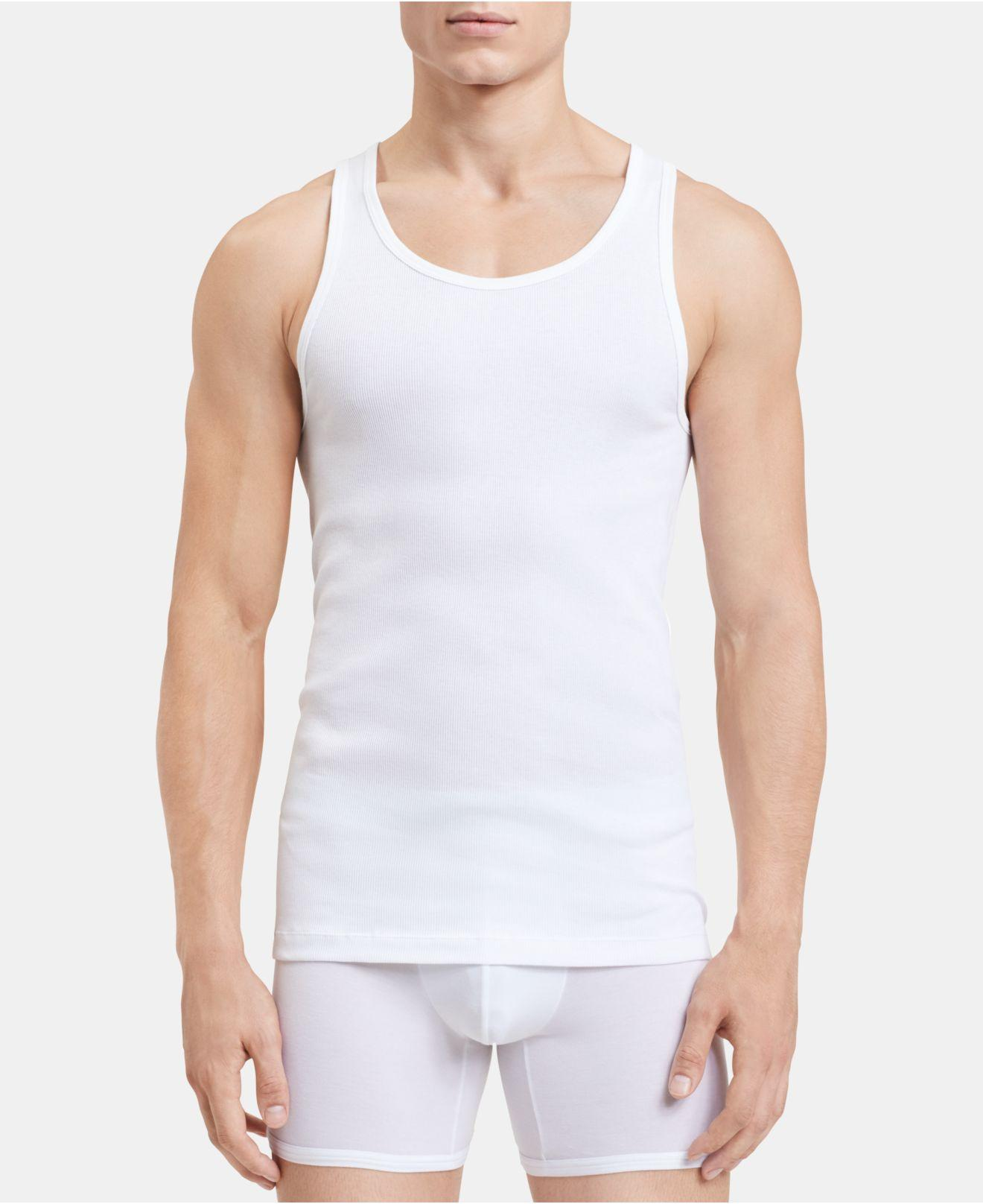 f47d4061fb3159 Lyst - Calvin Klein 5-pk. Cotton Classics Tank Tops in White for Men