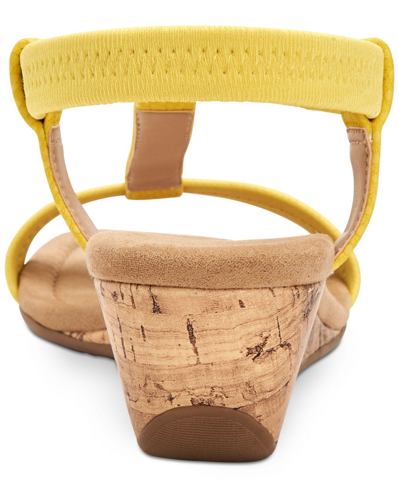 3a8c42b4e4b0 Alfani - Yellow Step  n Flex Voyage Wedge Sandals