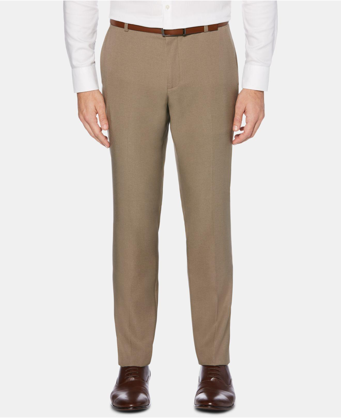a2eb3f8b7398 Perry Ellis. Men s Portfolio Extra-slim Fit Performance Stretch Heather Non-iron  Dress Pants