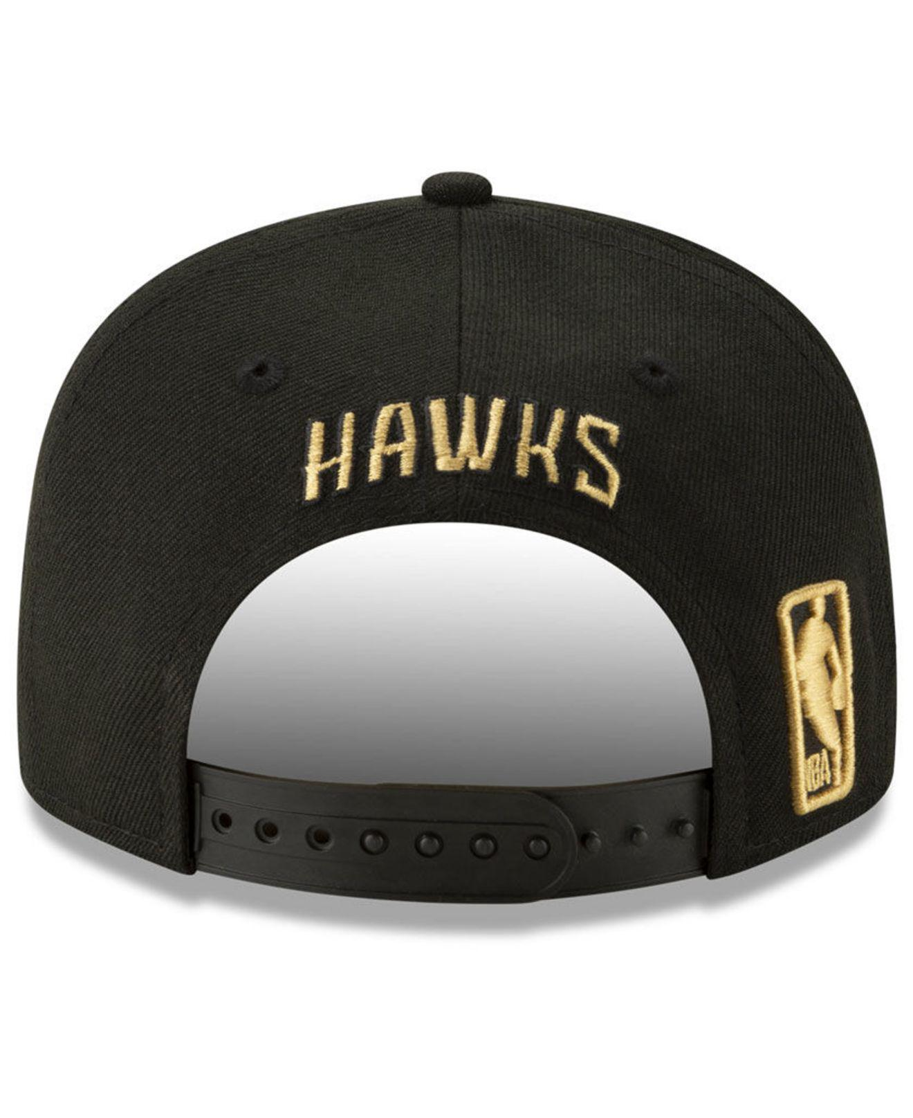 new arrival 9c50b 84a4f KTZ Atlanta Hawks Nba 9fifty City Edition Snapback in Black for Men - Lyst