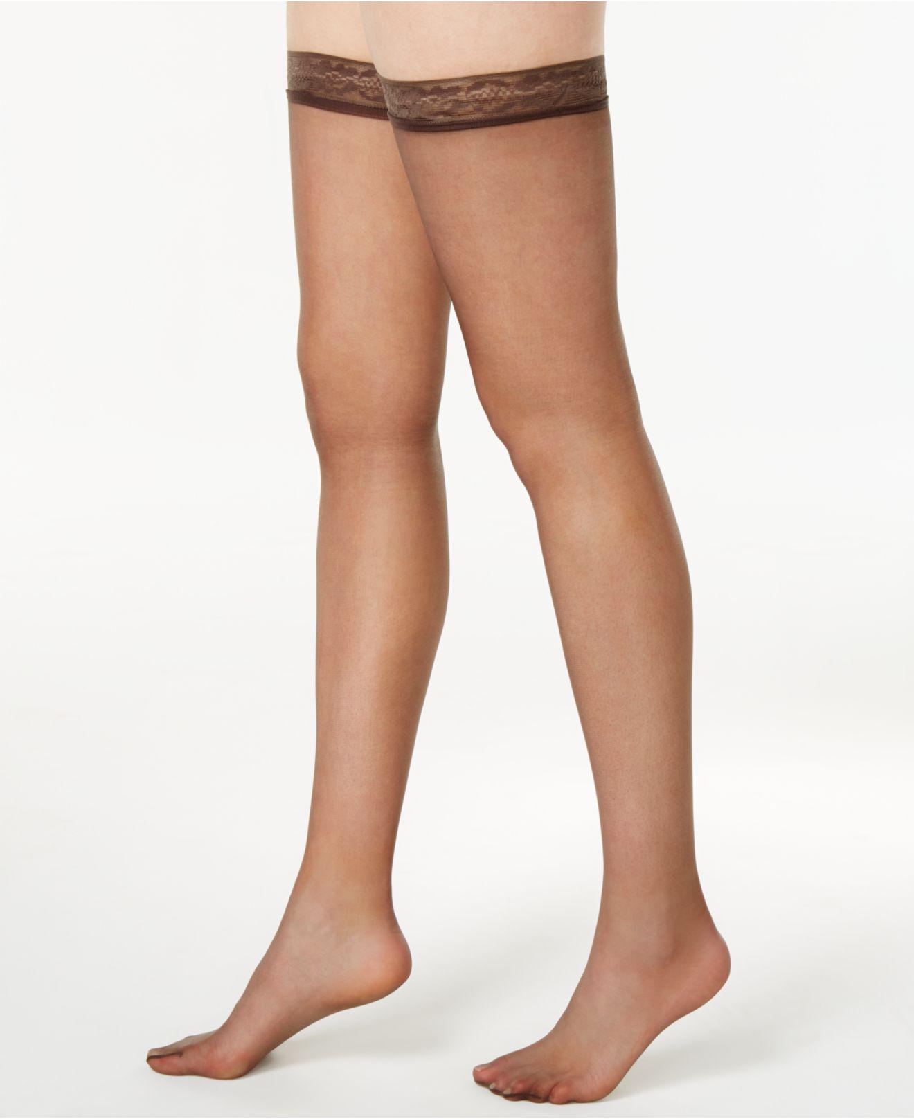 Hanes. Women s Silk Reflections Silky Sheer Thigh Highs 720 6784de21a