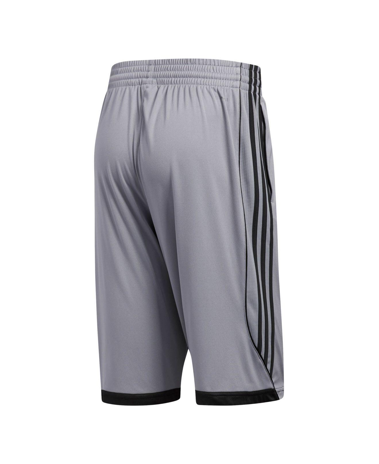 ADIDAS MEN'S CLIMATE Panel Athletic Shorts Black White