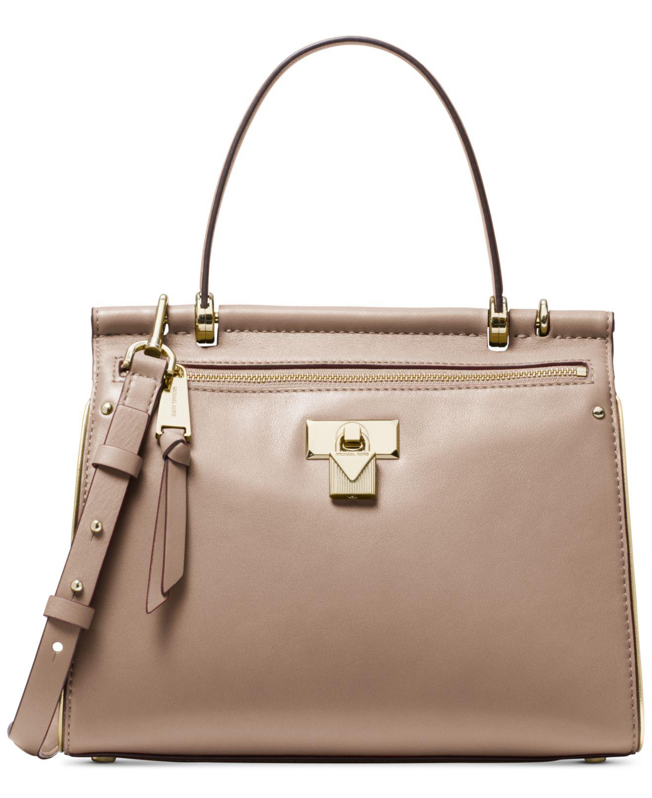 6f6f0a8b8d38 Michael Kors. Women s Michael Jasmine Polished Leather Top Handle Satchel