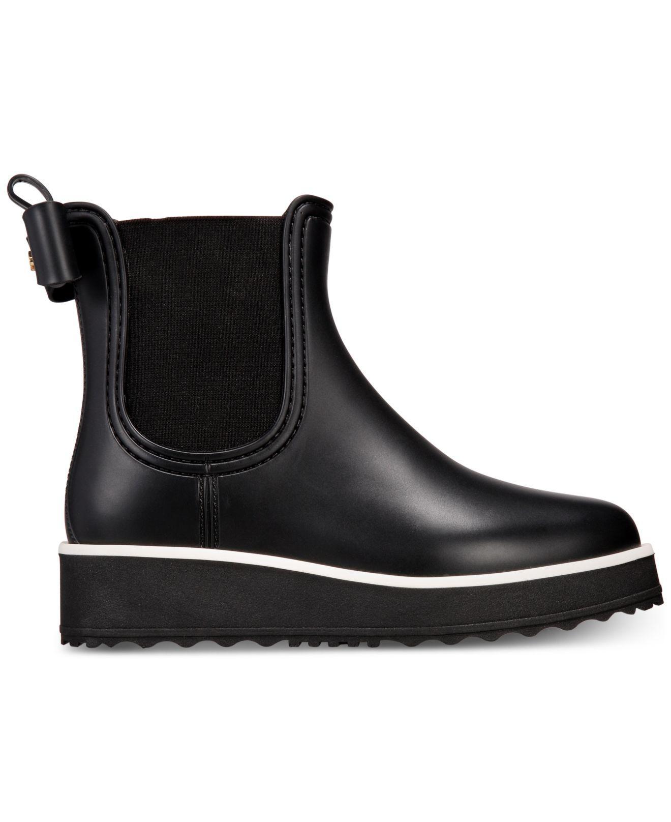Kate Spade Rubber Malcom Rain Shoe In Black - Lyst-8493