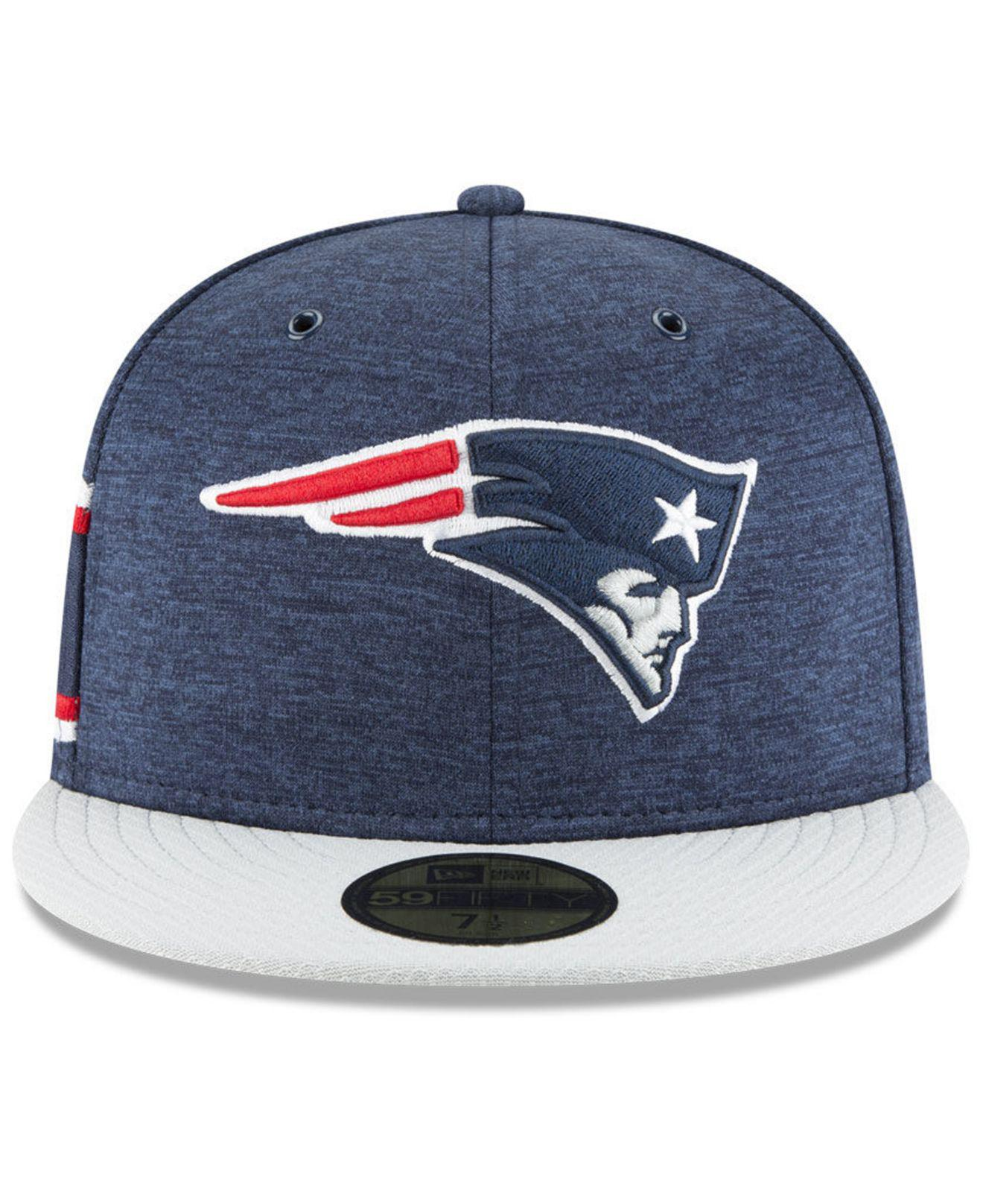 Lyst - KTZ New England Patriots On Field Sideline Home 59fifty Fitted Cap  in Blue for Men 3b11eee60