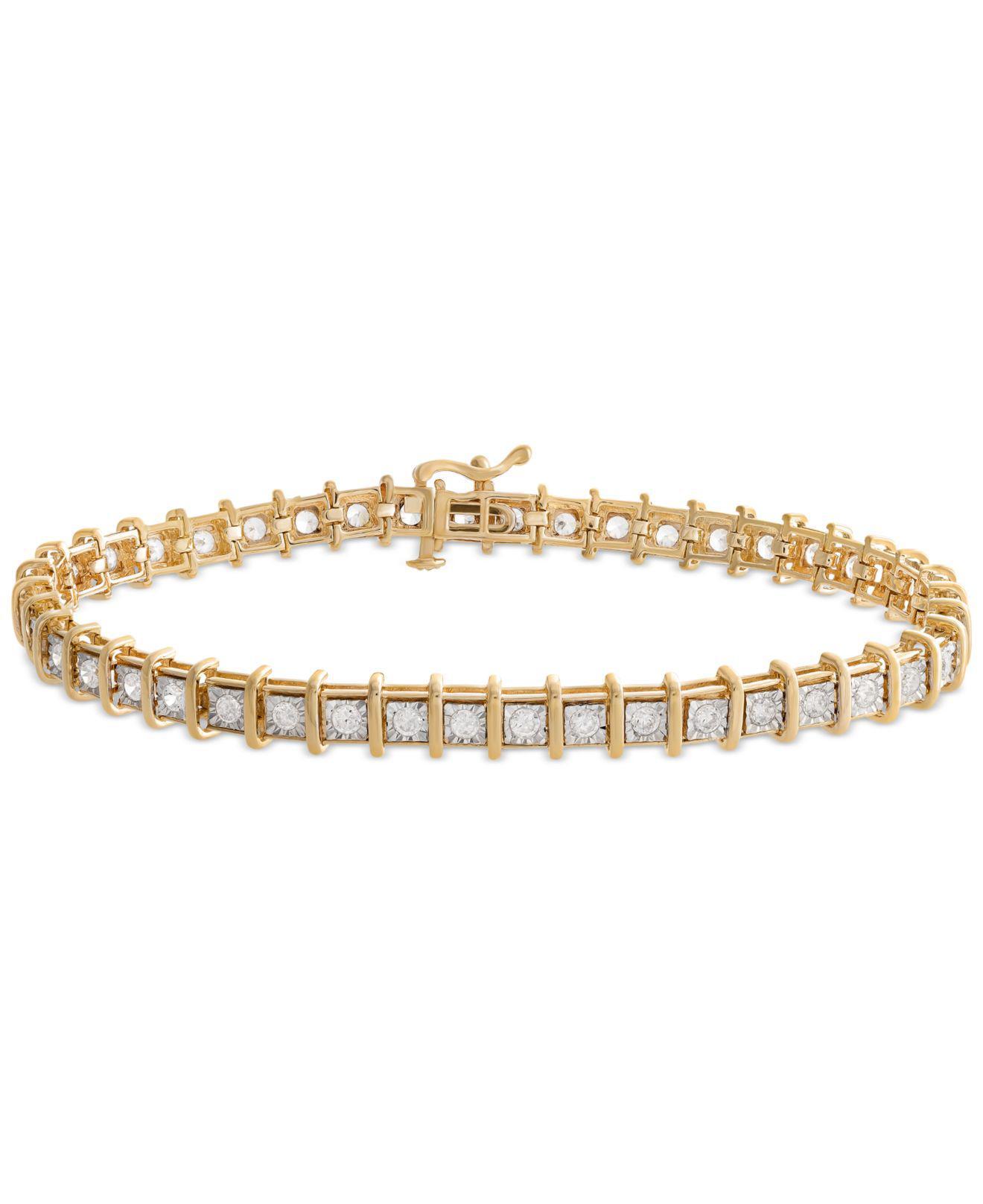 Diamond Tennis Bracelet 2 Ct T W In 14k Gold Rose Or White