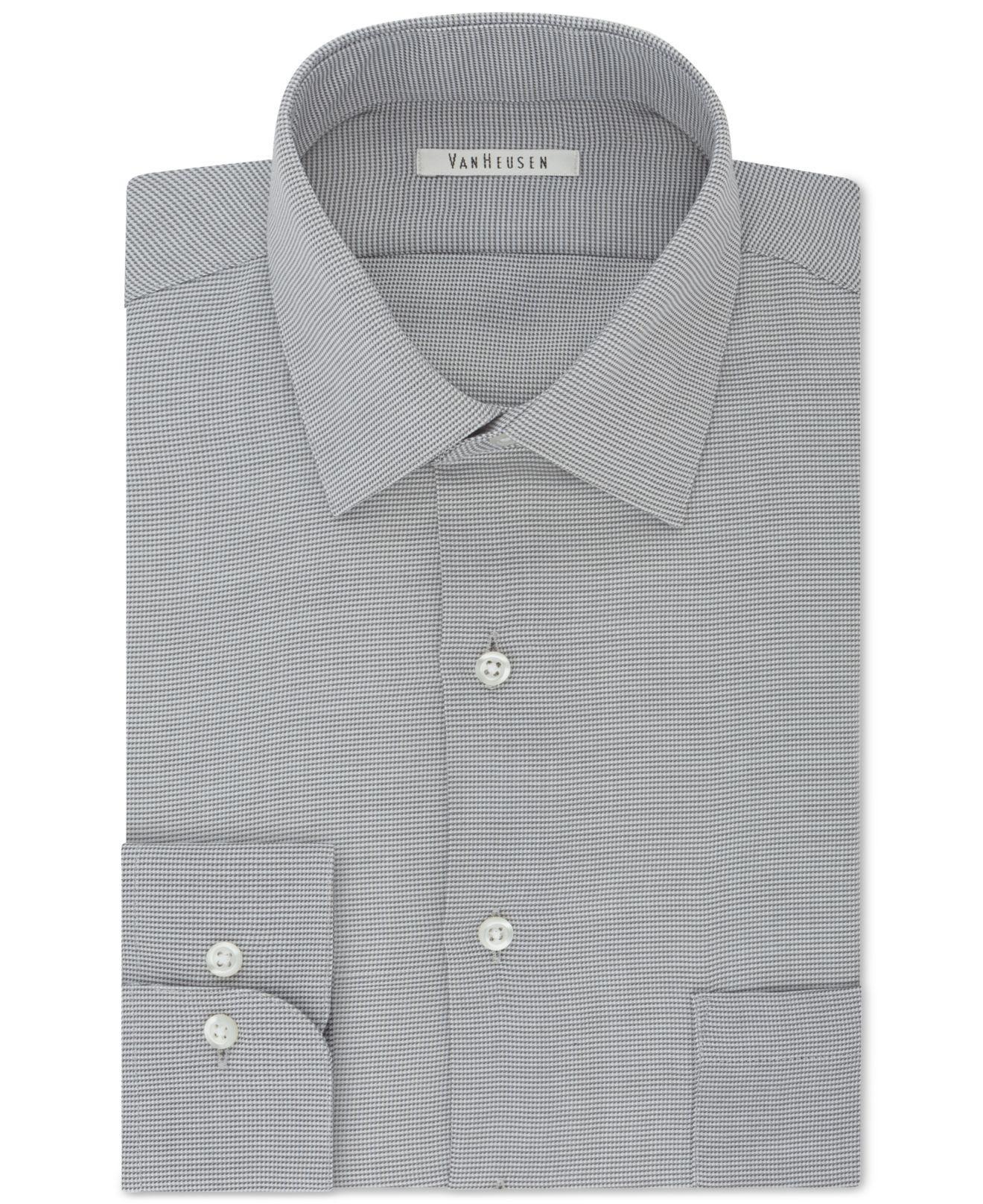 f9db6fbcfa9 Van Heusen. Gray Men s Classic regular Fit Micro Houndstooth Dress Shirt